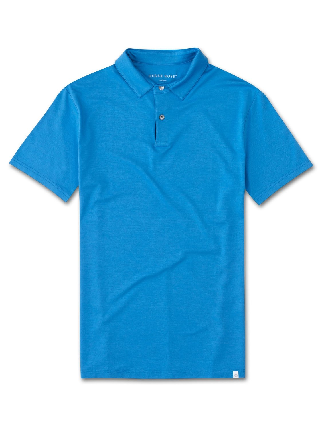 Men's Short Sleeve Polo Shirt Basel 4 Micro Modal Stretch Blue