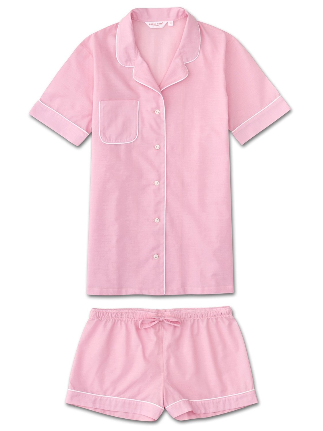 Women's Shortie Pyjamas Amalfi Cotton Batiste Rose