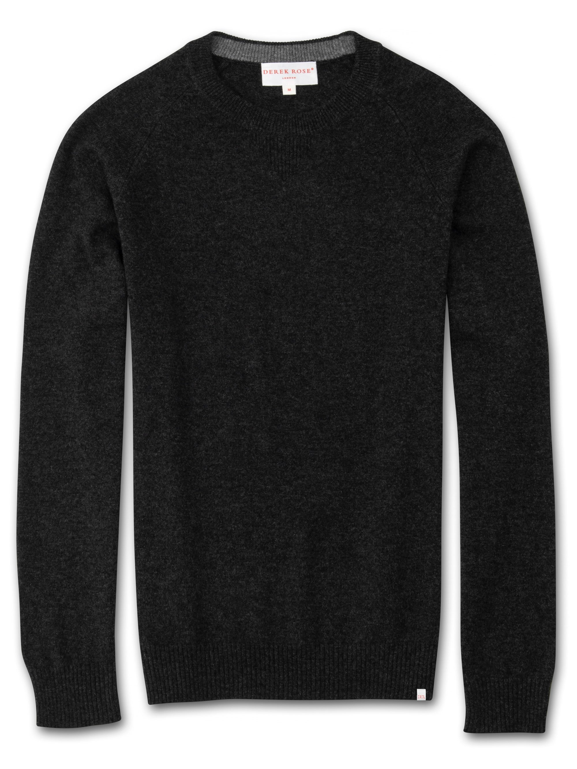Men's Cashmere Sweater Finley 2 Pure Cashmere Charcoal