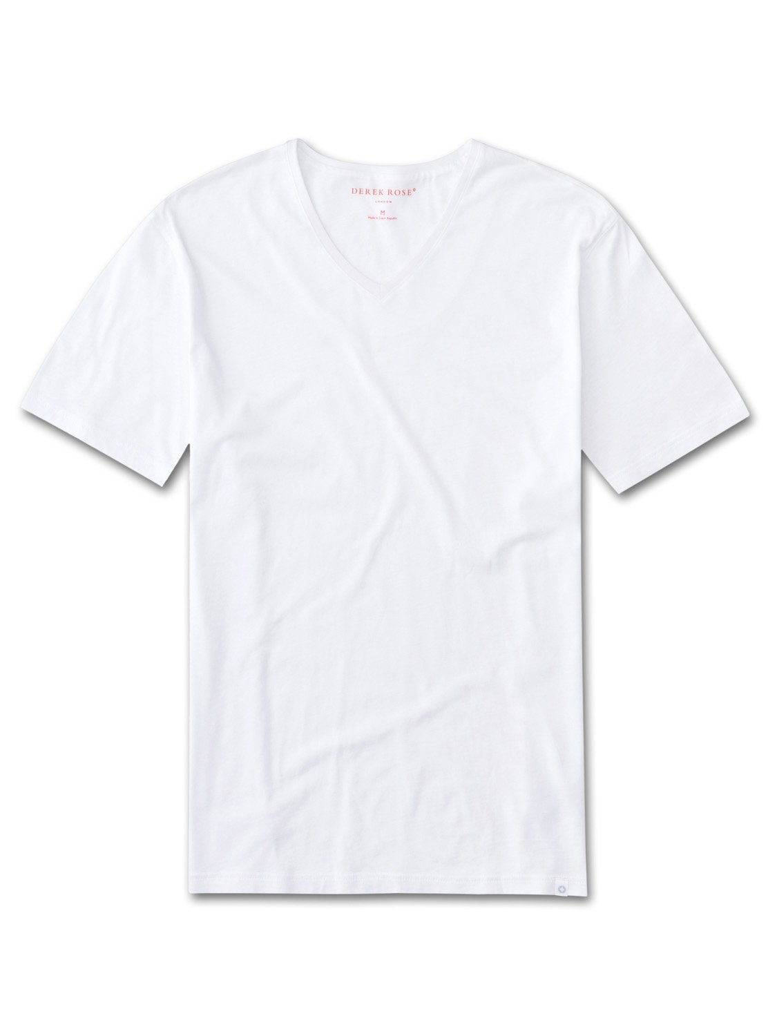 Men's Short Sleeve V-Neck T-Shirt Riley Pima Cotton White