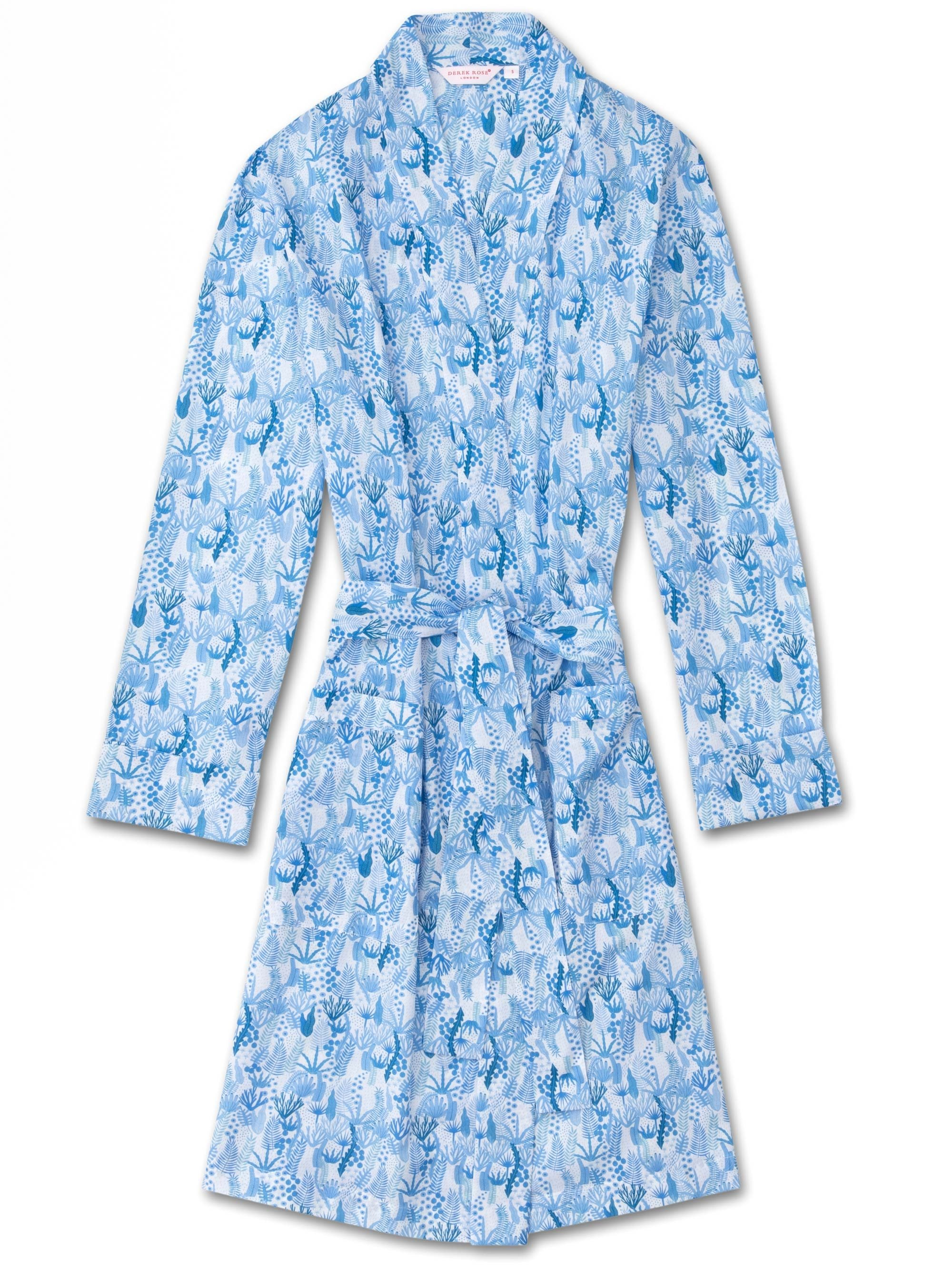 Women's Dressing Gown Ledbury 23 Cotton Batiste Blue