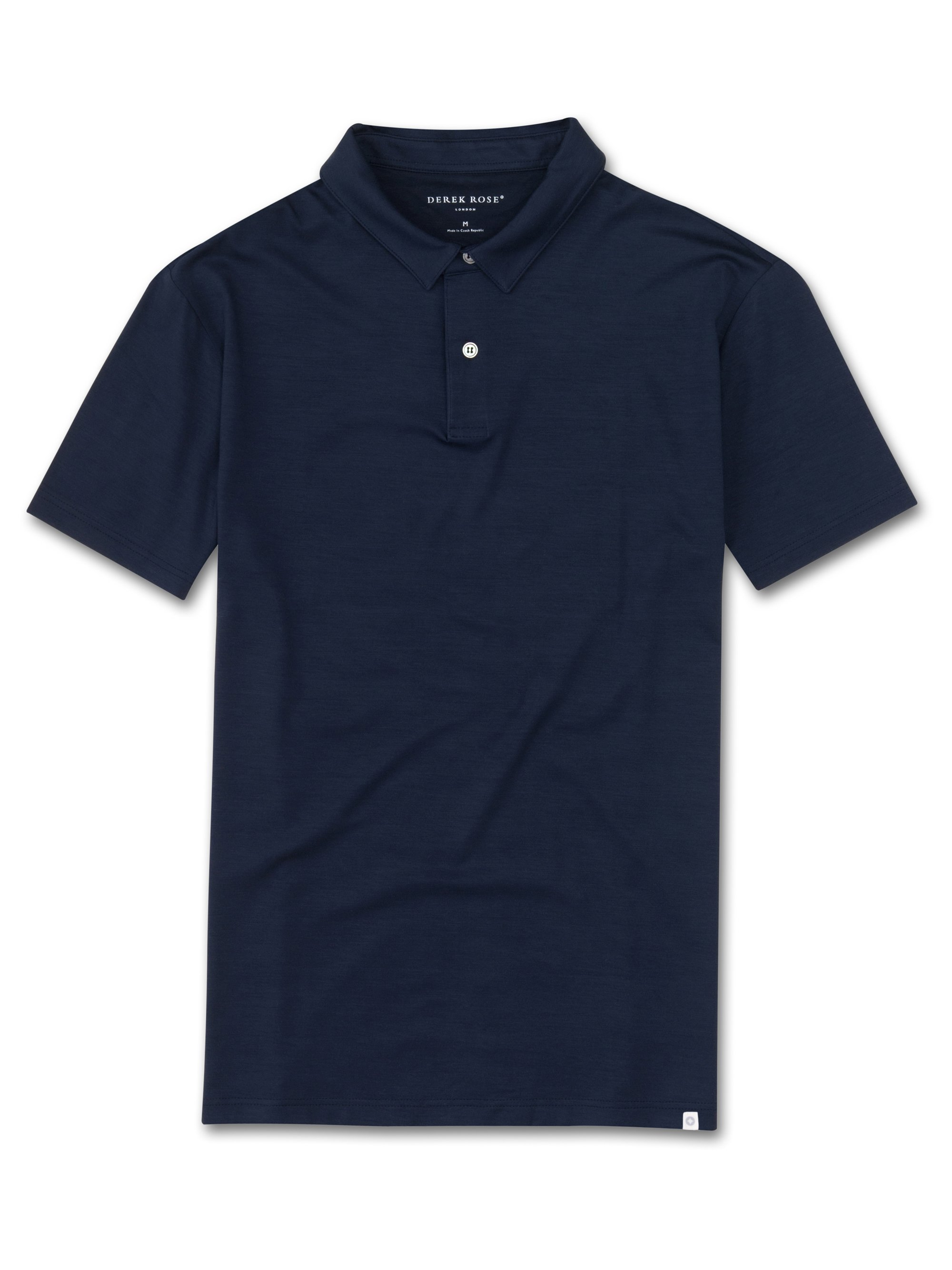 Men's Short Sleeve Polo Shirt Basel Micro Modal Stretch Navy