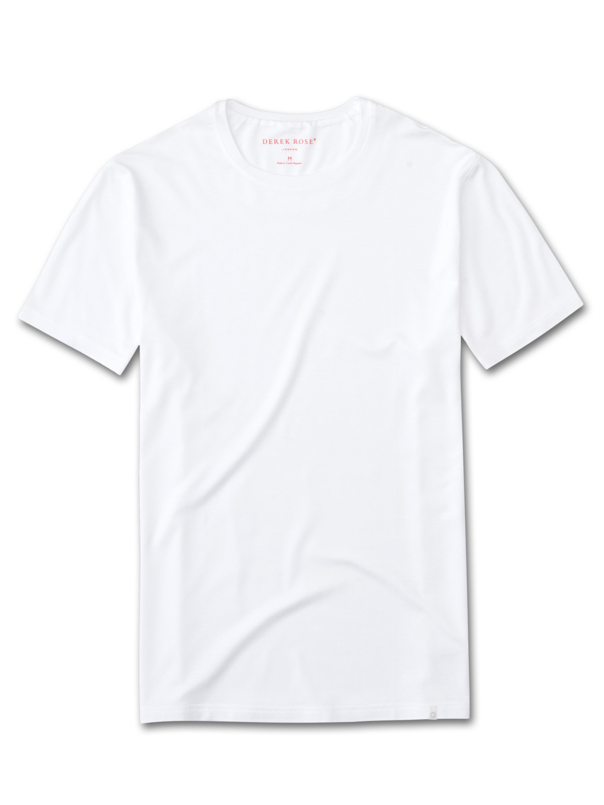 Men's Short Sleeve T-Shirt Basel Micro Modal Stretch White