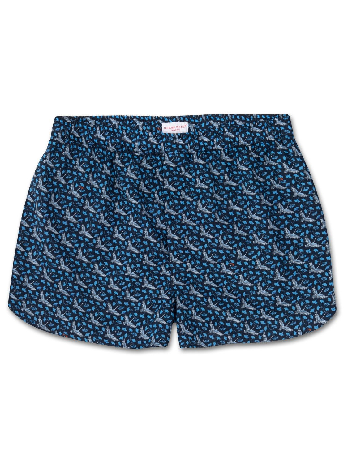 Men's Modern Fit Boxer Shorts Ledbury 15 Cotton Batiste Navy