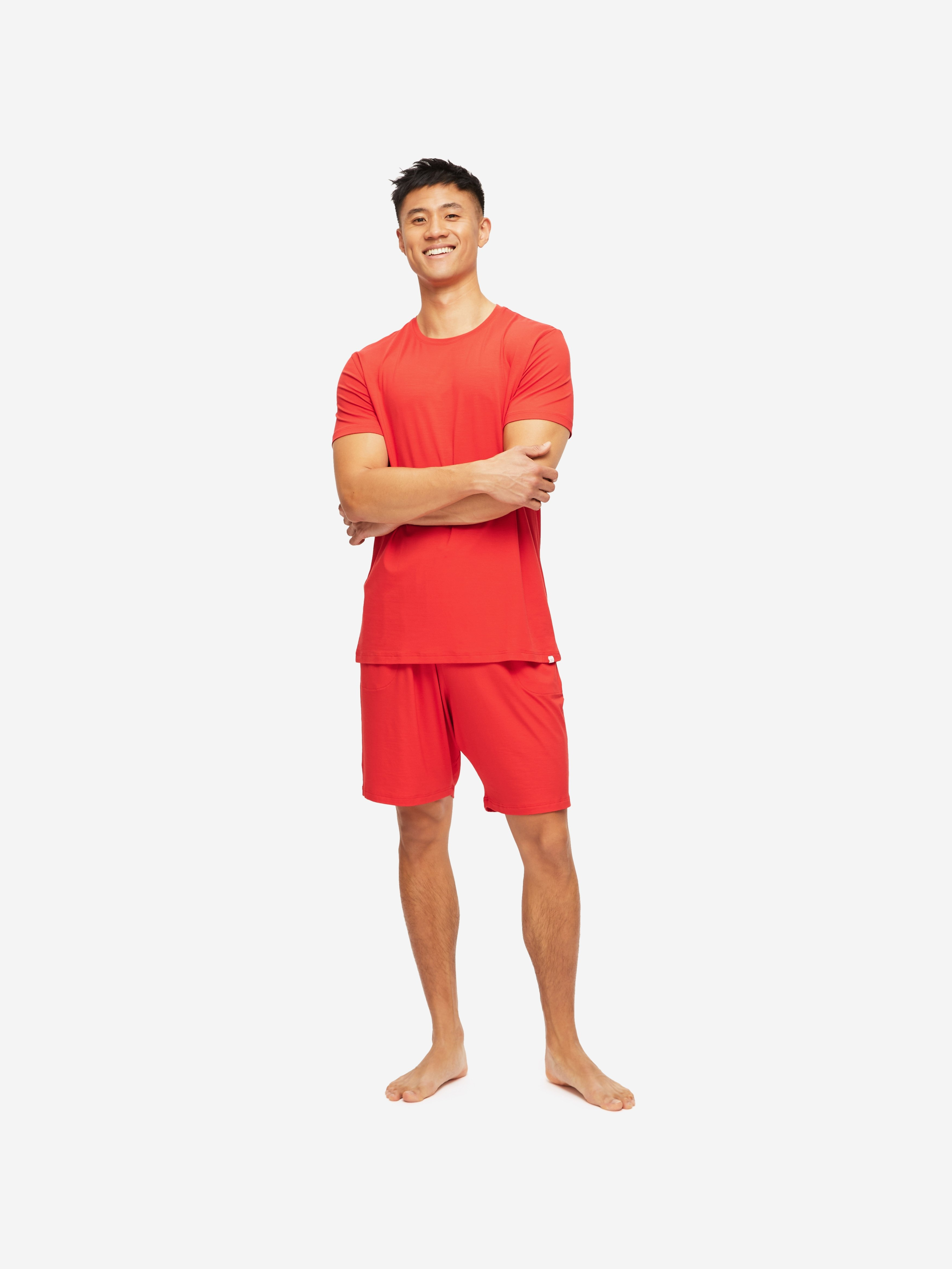 Men's Jersey Shorts Basel 11 Micro Modal Stretch Red