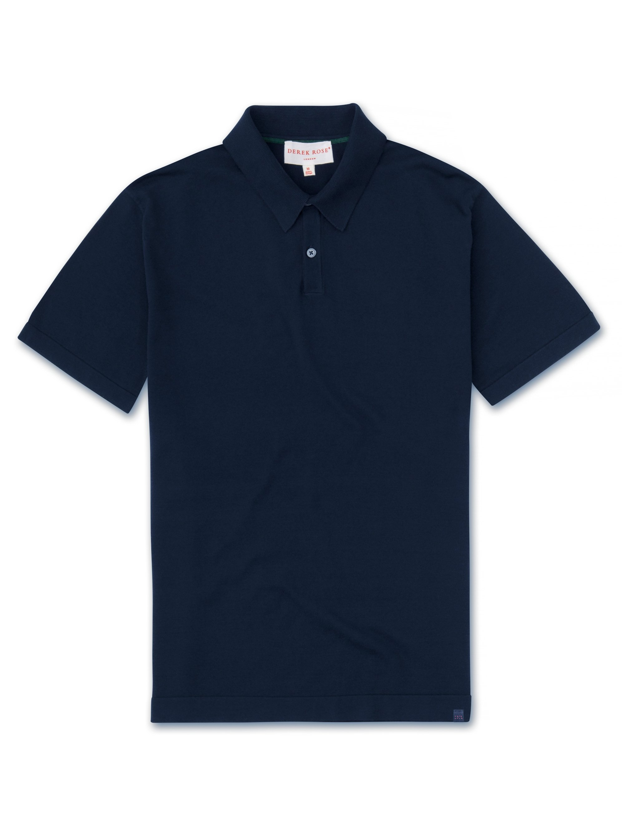 Men's Short Sleeve Polo Shirt Jacob Sea Island Cotton Navy