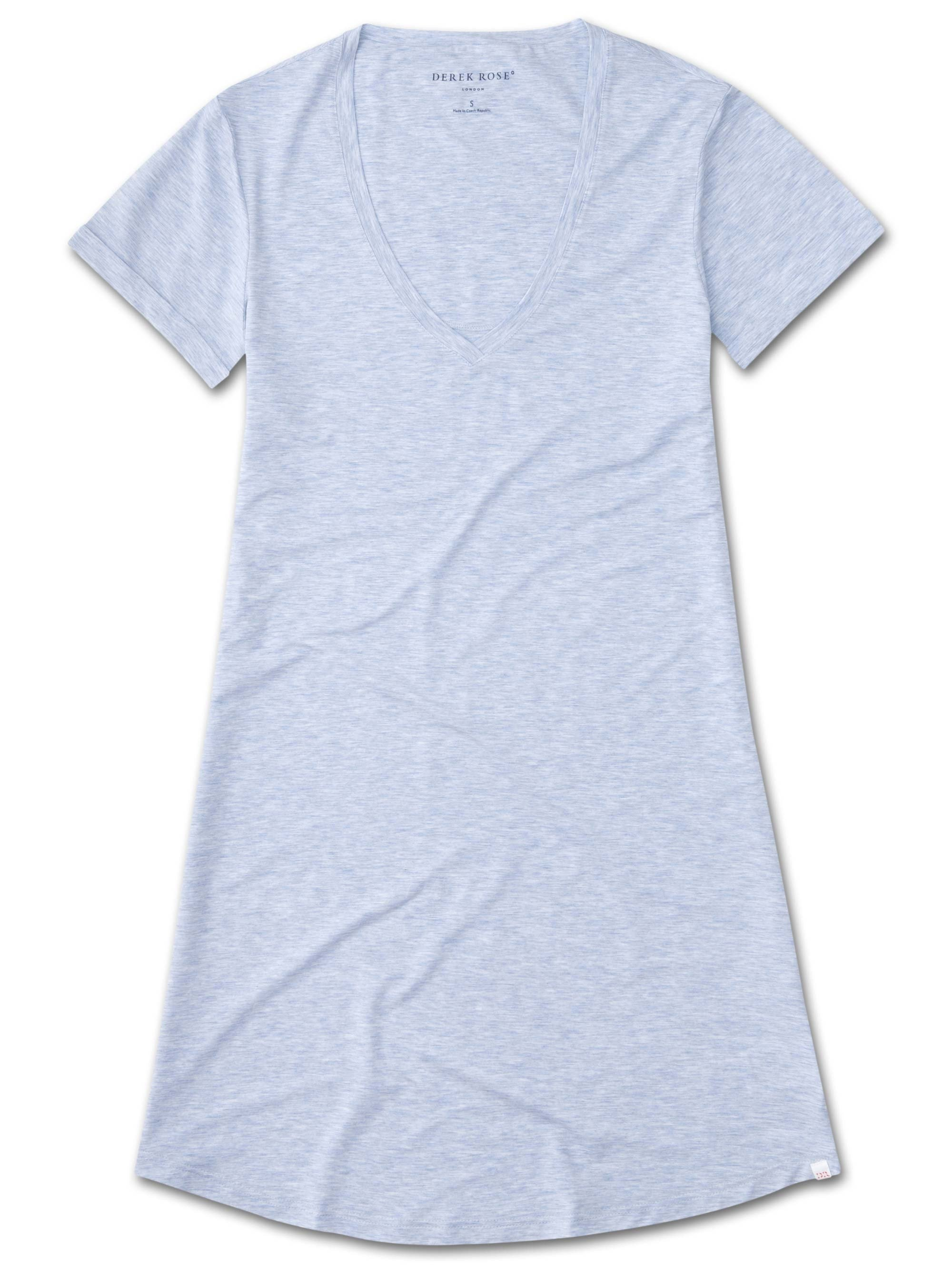 Women's V-Neck Sleep T-Shirt Ethan Micro Modal Stretch Blue