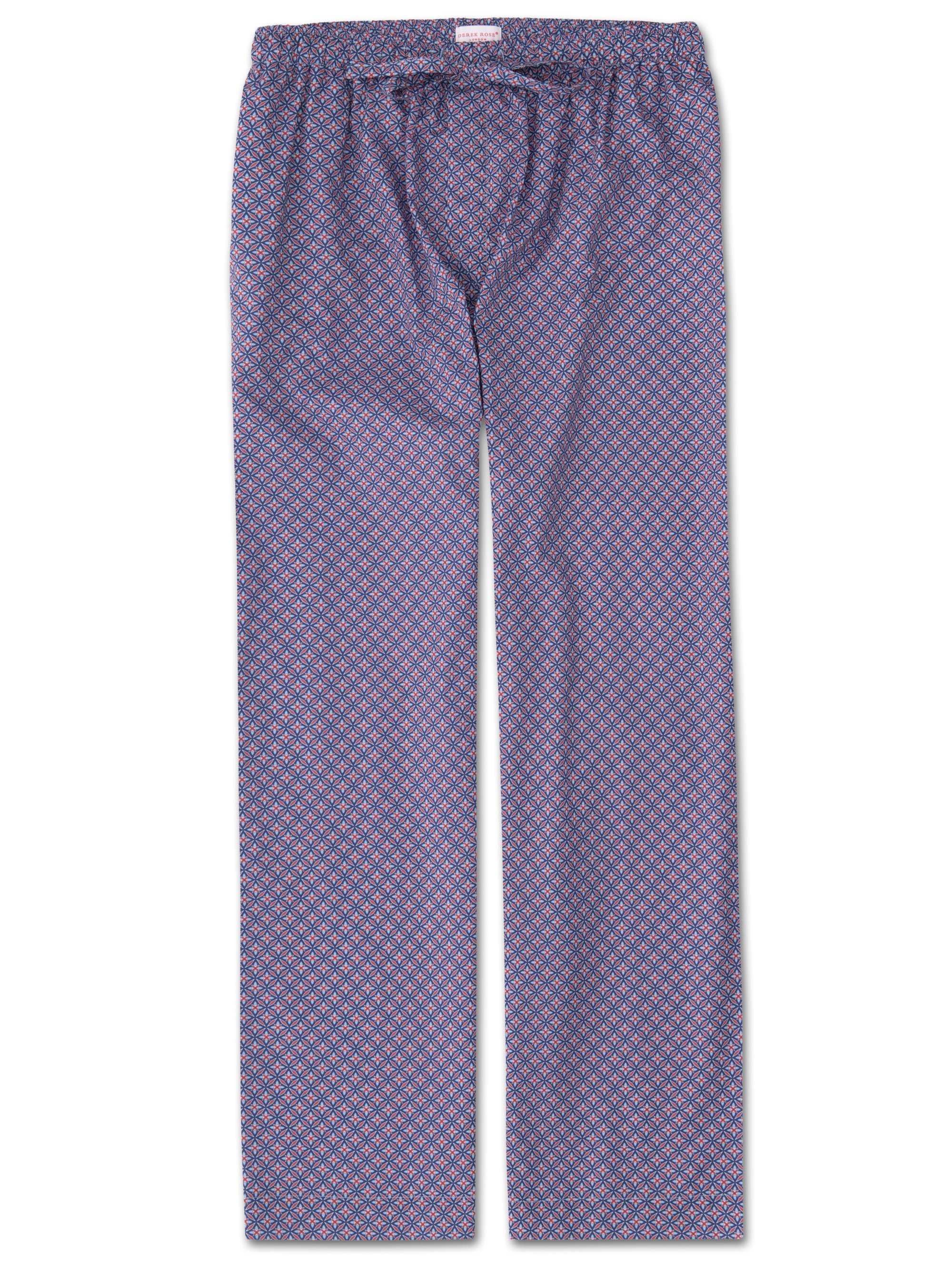 Men's Lounge Trousers Ledbury 21 Cotton Batiste Red