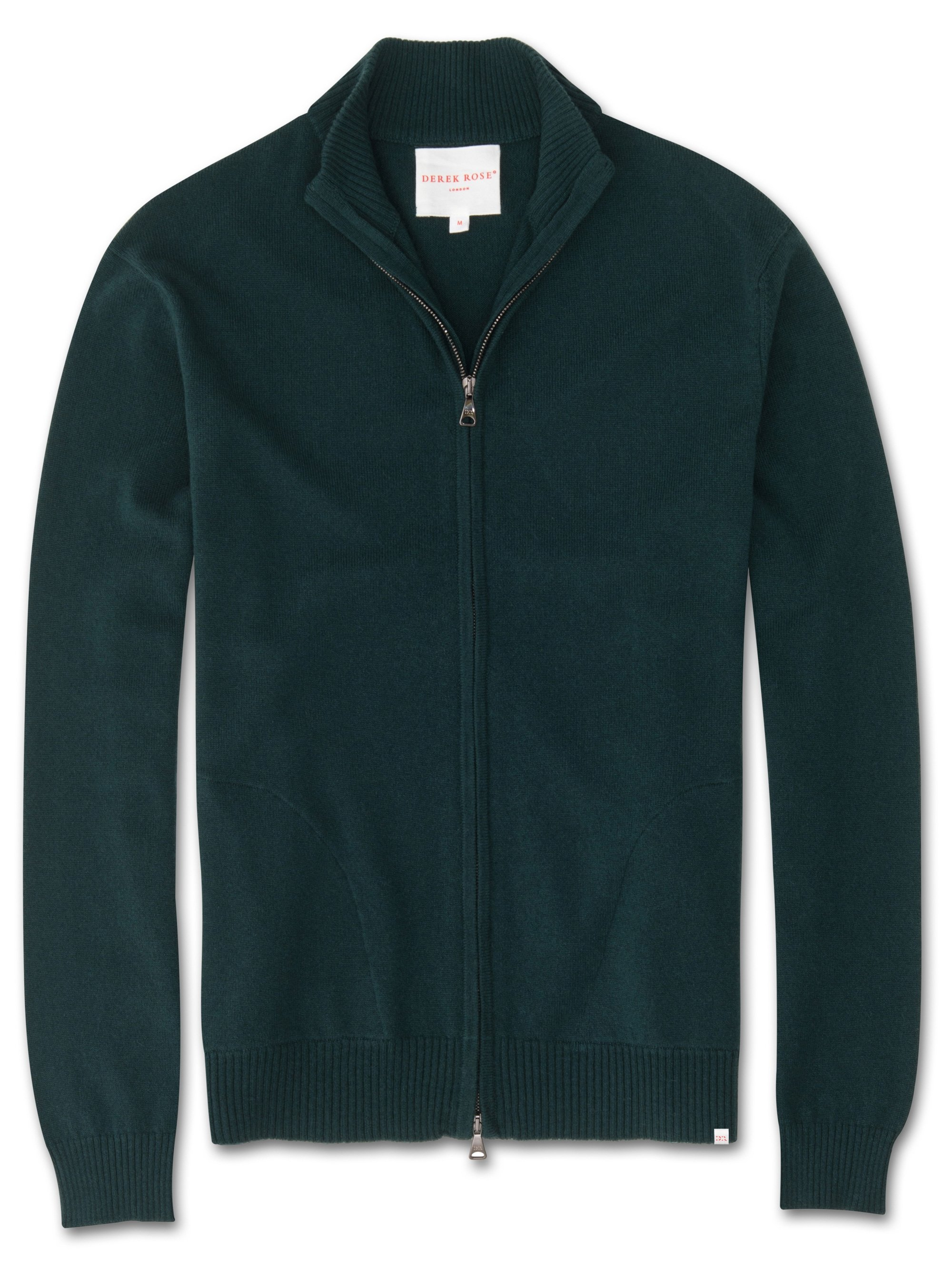 Men's Cashmere Zip-Up Top Finley Pure Cashmere Green