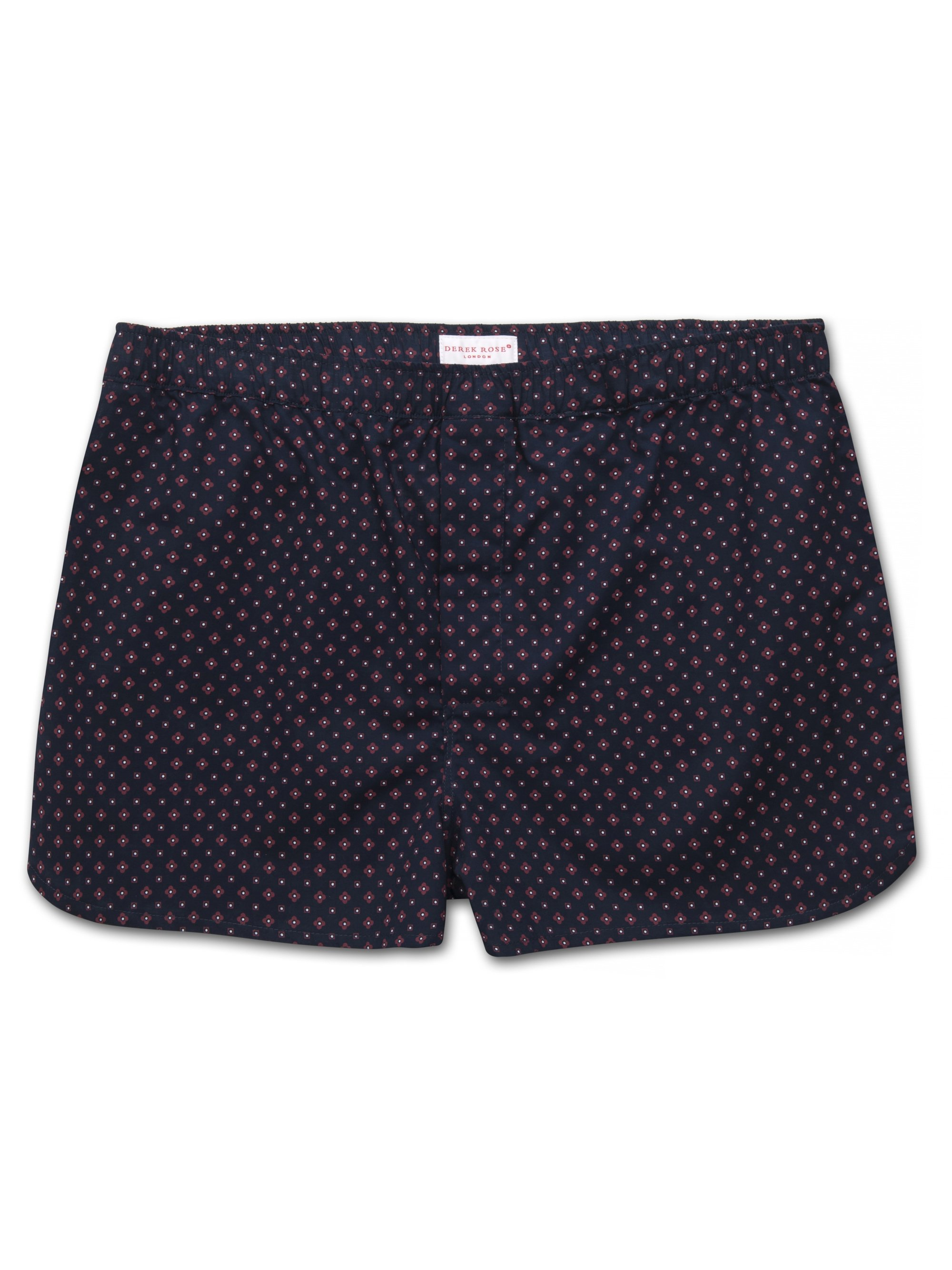 Men's Modern Fit Boxer Shorts Nelson 72 Cotton Batiste Navy