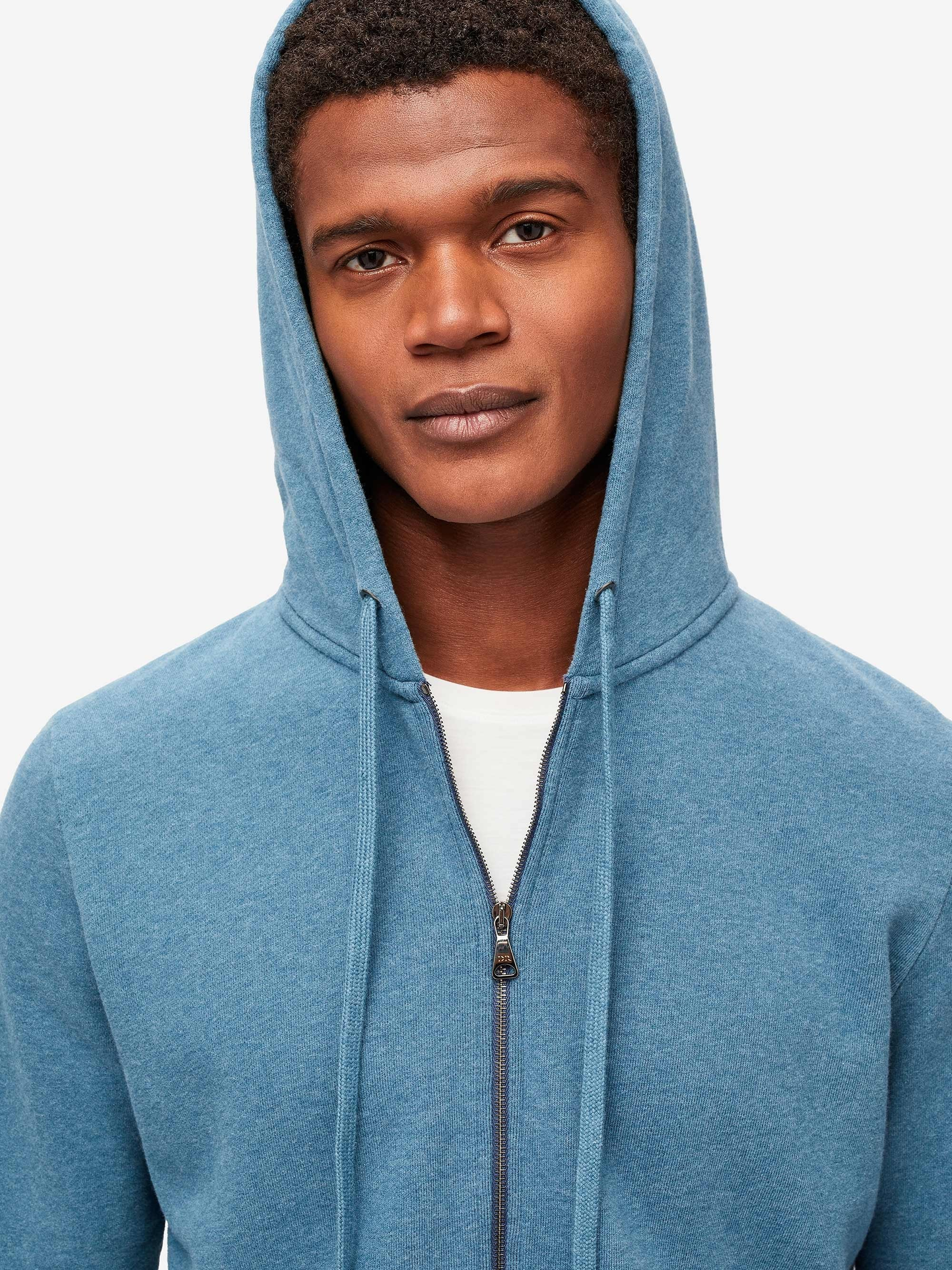 Men's Hoodie Devon 3 Loopback Cotton Blue