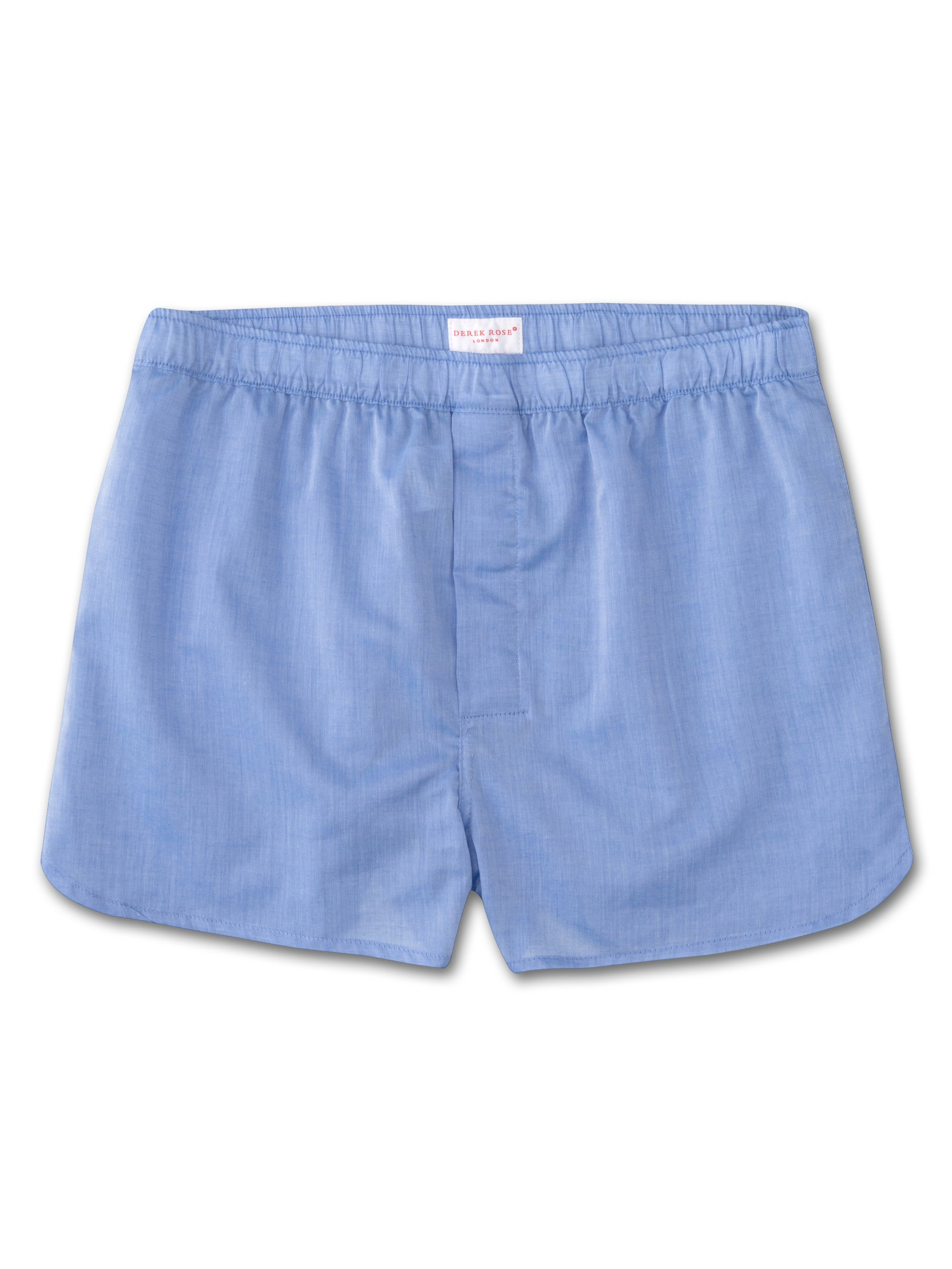 Men's Modern Fit Boxer Shorts Amalfi Cotton Batiste Blue