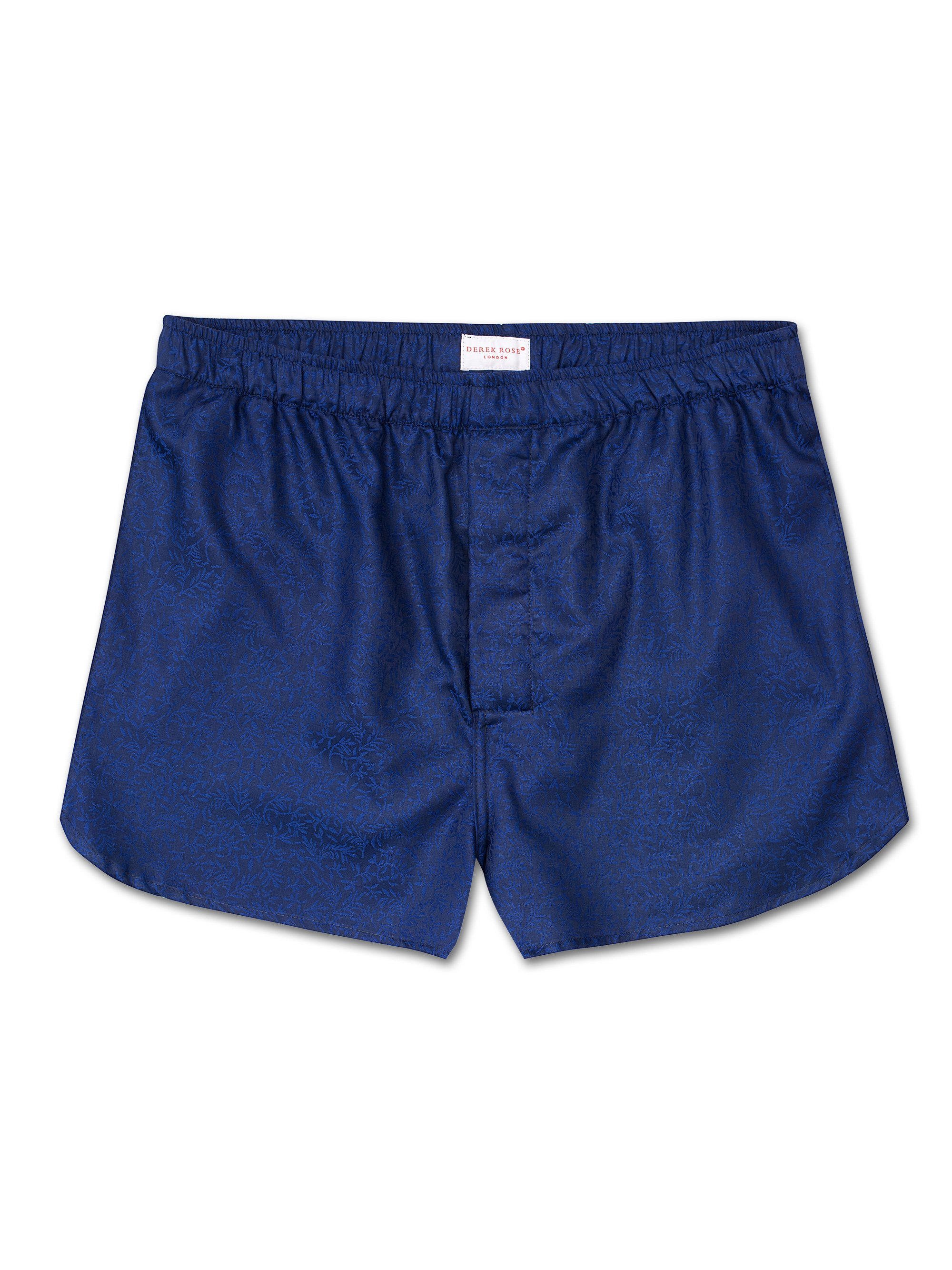 Men's Modern Fit Boxer Shorts Paris 7 Cotton Jacquard Cobalt