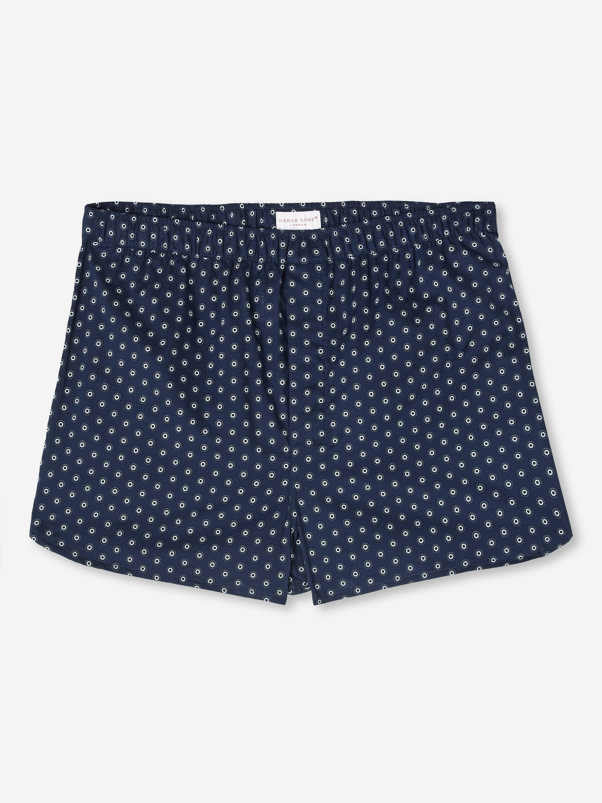 Men's Modern Fit Boxer Shorts Nelson 78 Cotton Batiste Navy