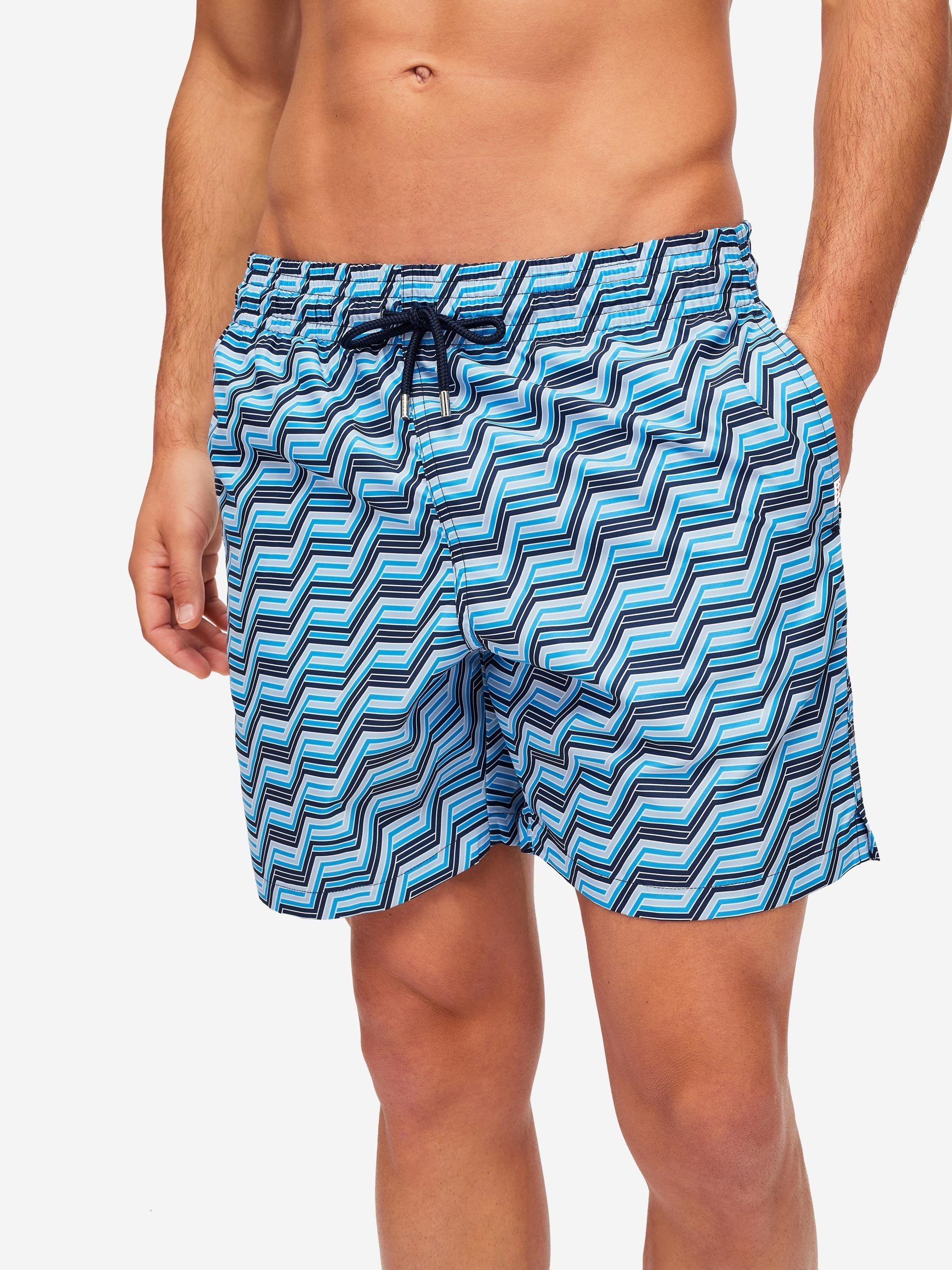 Men's Classic Fit Swim Shorts Tropez 9 Navy