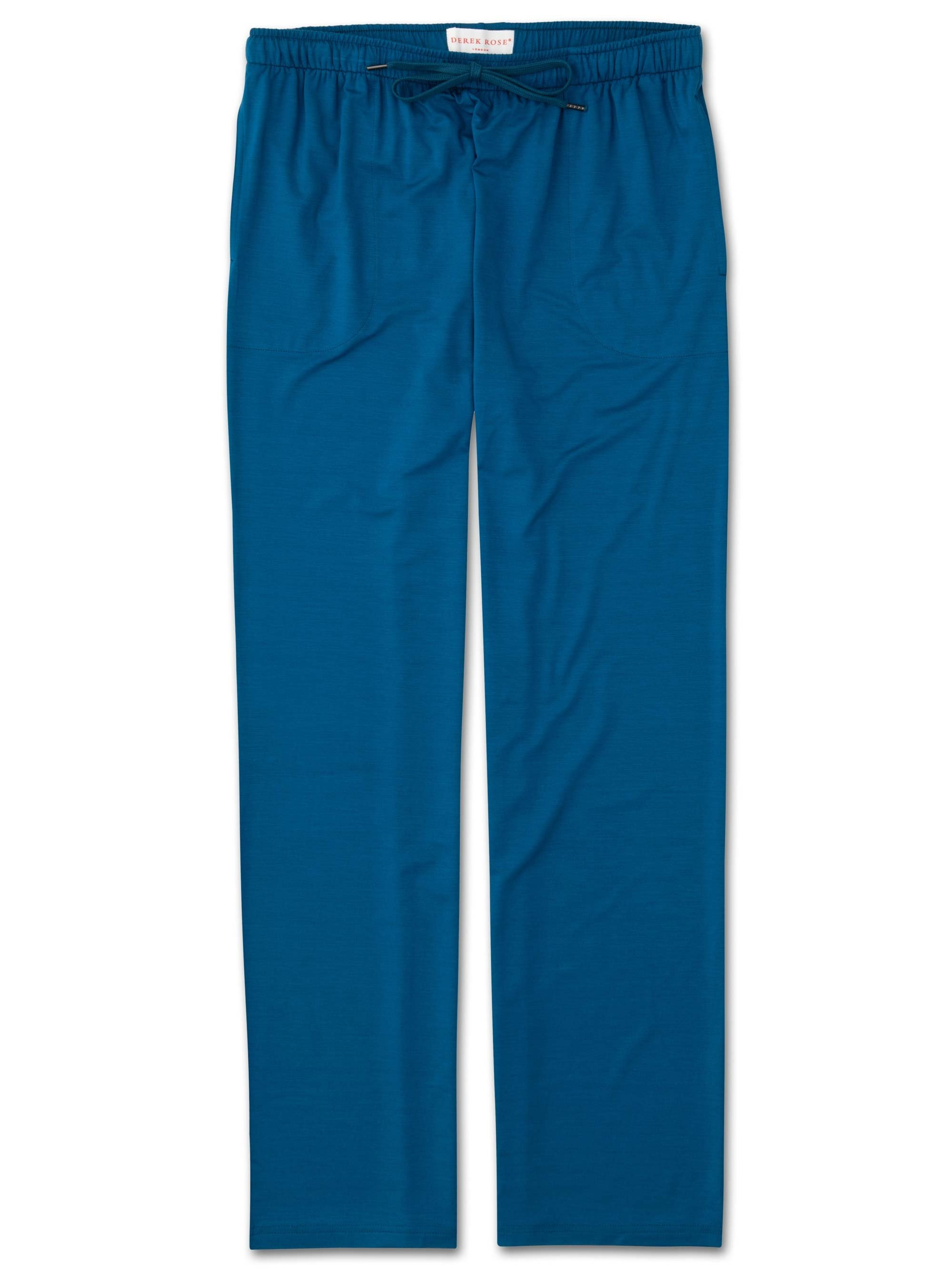 Men's Jersey Trousers Basel 7 Micro Modal Stretch Ocean