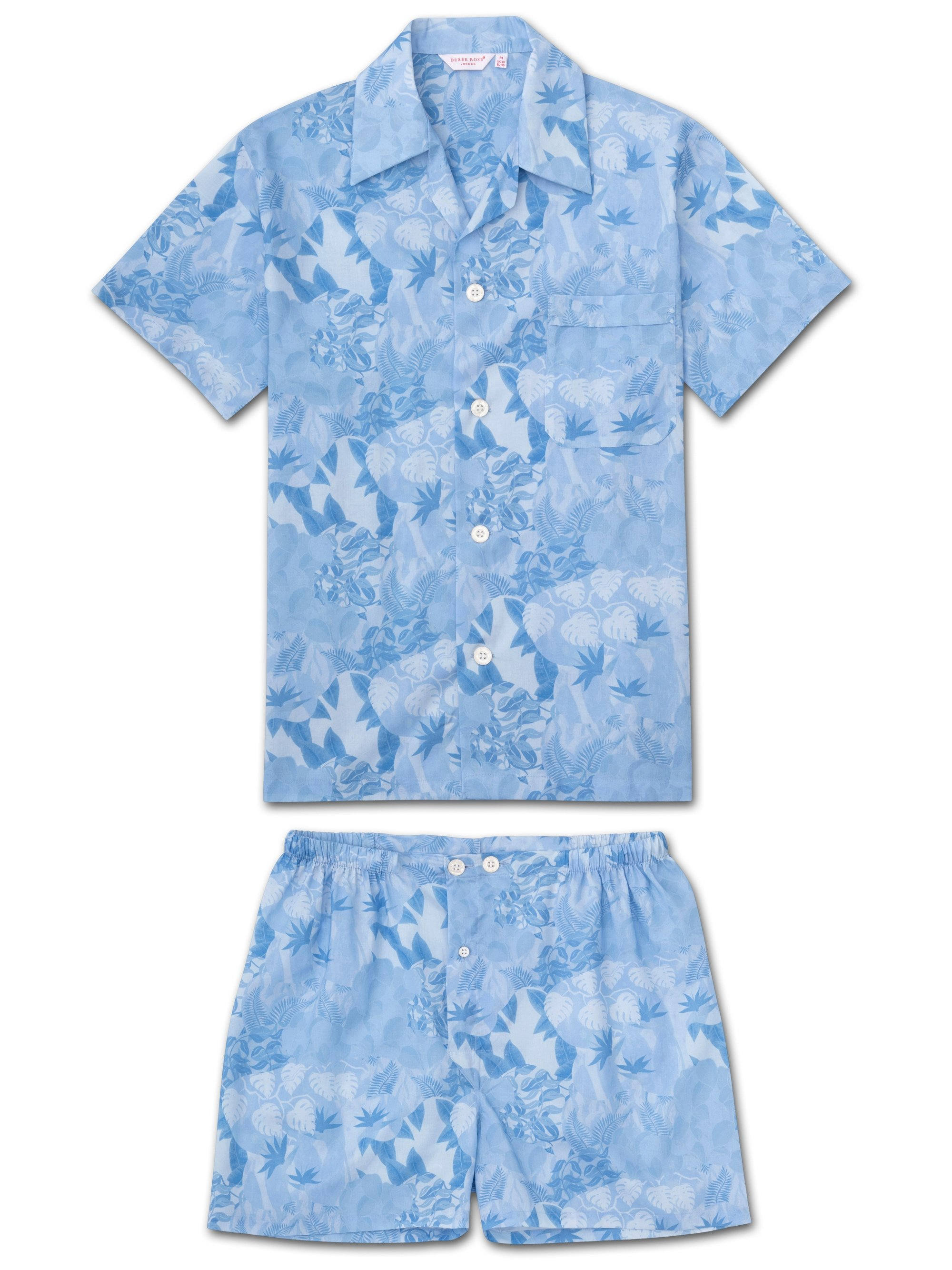 Men's Short Pyjamas Ledbury 35 Cotton Batiste Blue