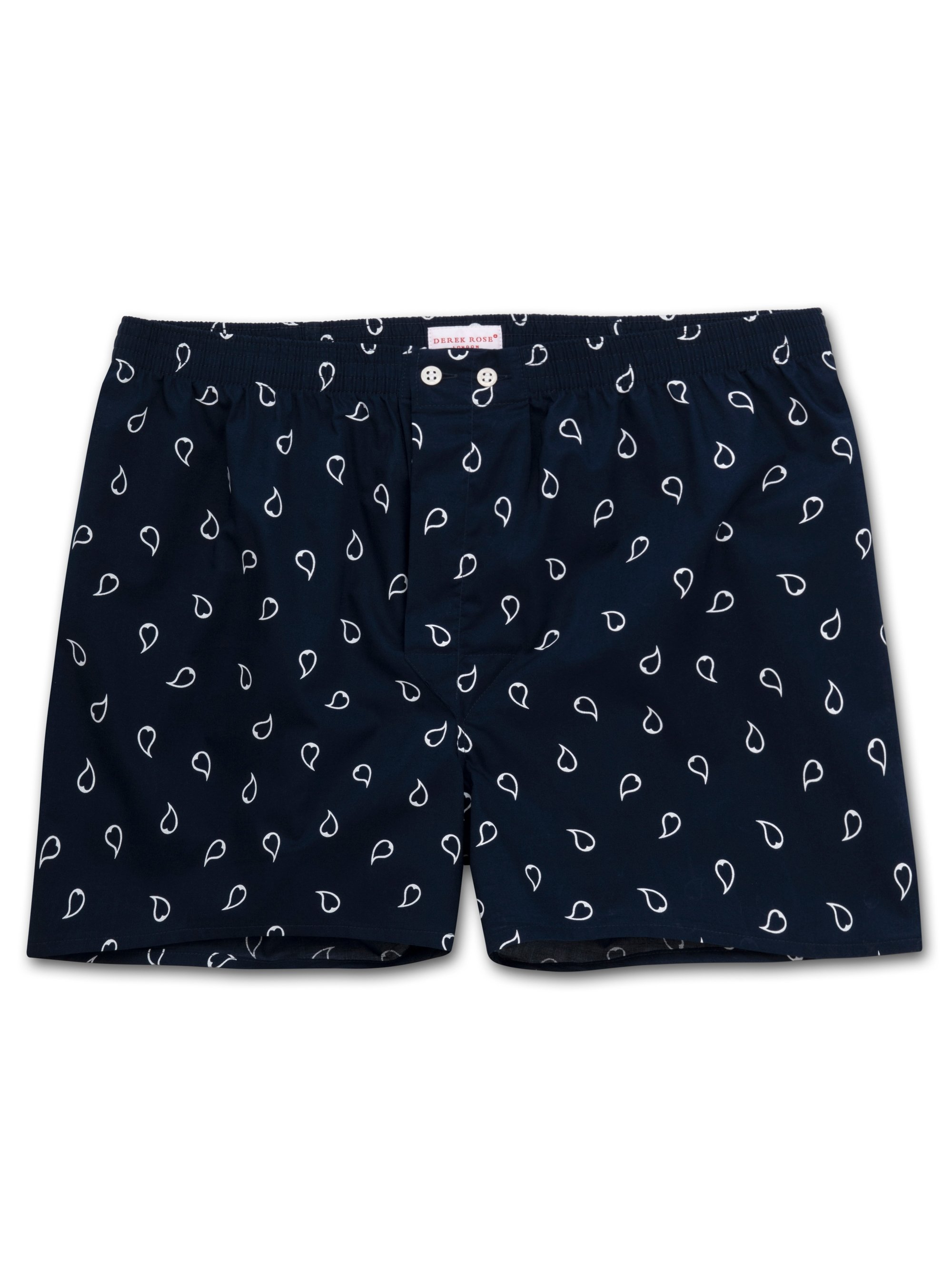 Men's Classic Fit Boxer Shorts Nelson 74 Cotton Batiste Navy