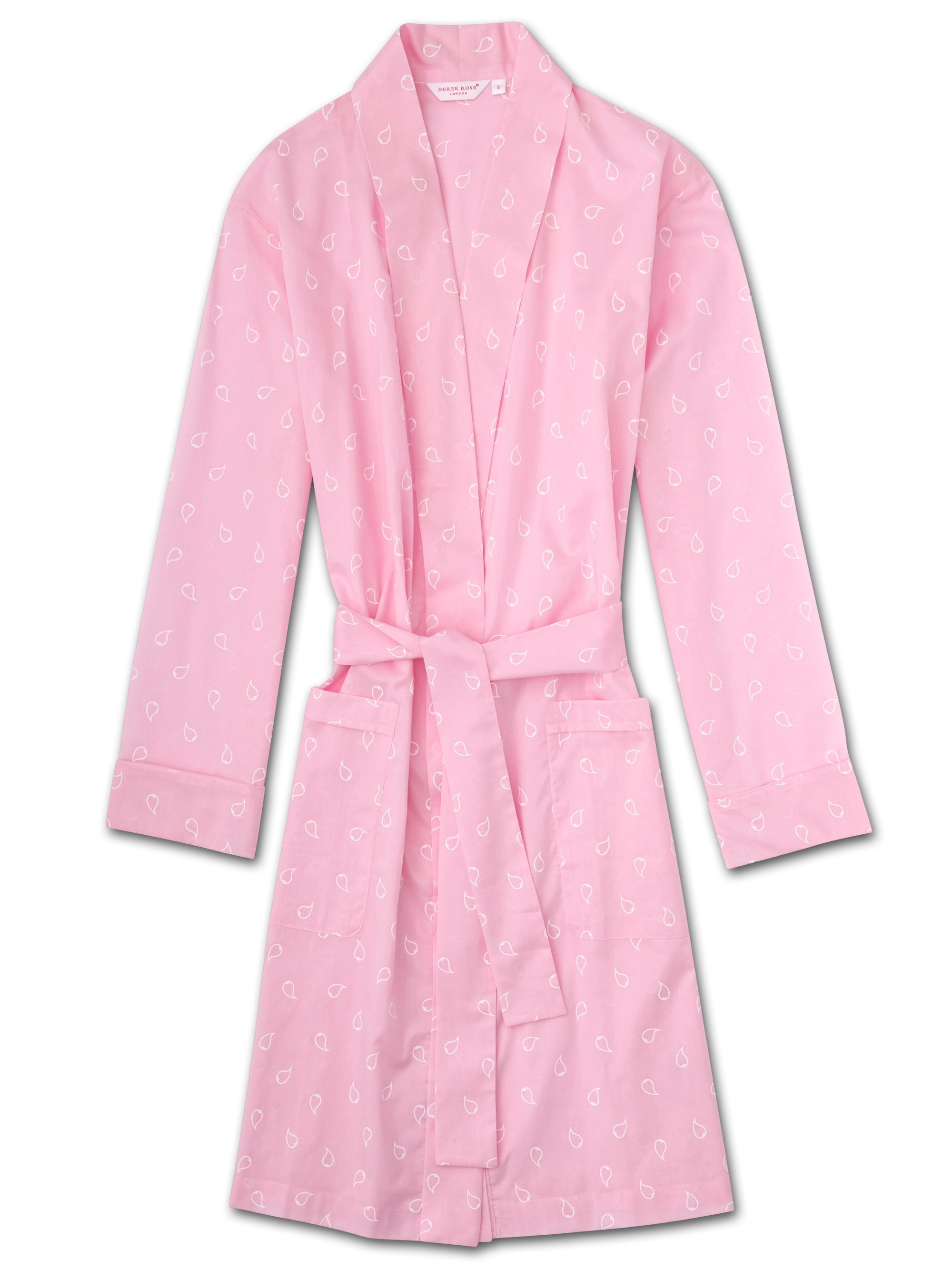Women's Dressing Gown Nelson 74 Cotton Batiste Pink