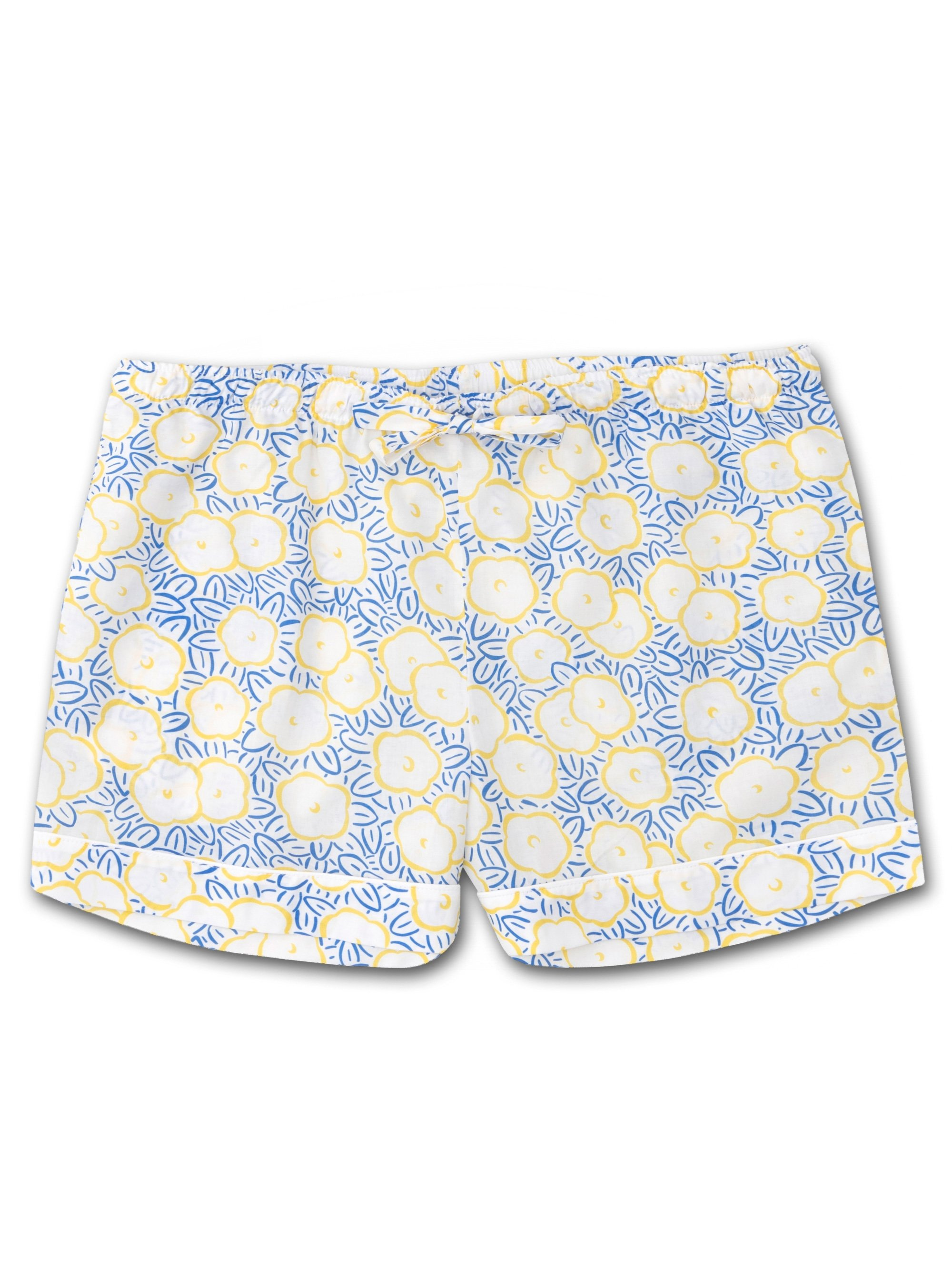 Women's Lounge Shorts Ledbury 33 Cotton Batiste White