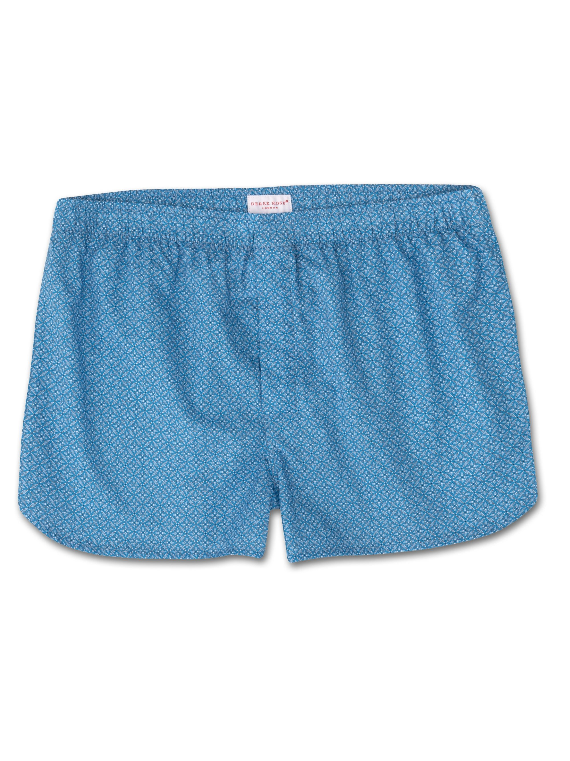 Men's Modern Fit Boxer Shorts Ledbury 21 Cotton Batiste Blue