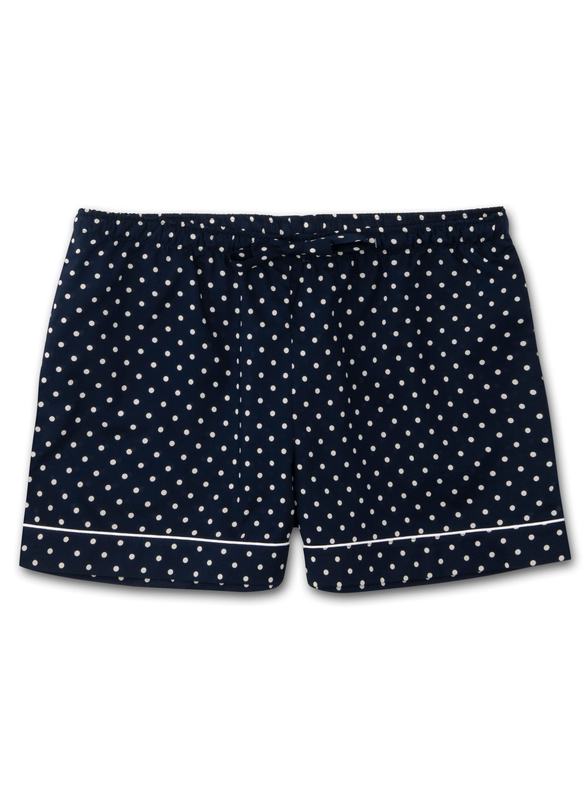 Women's Lounge Shorts Plaza 60 Cotton Batiste Navy
