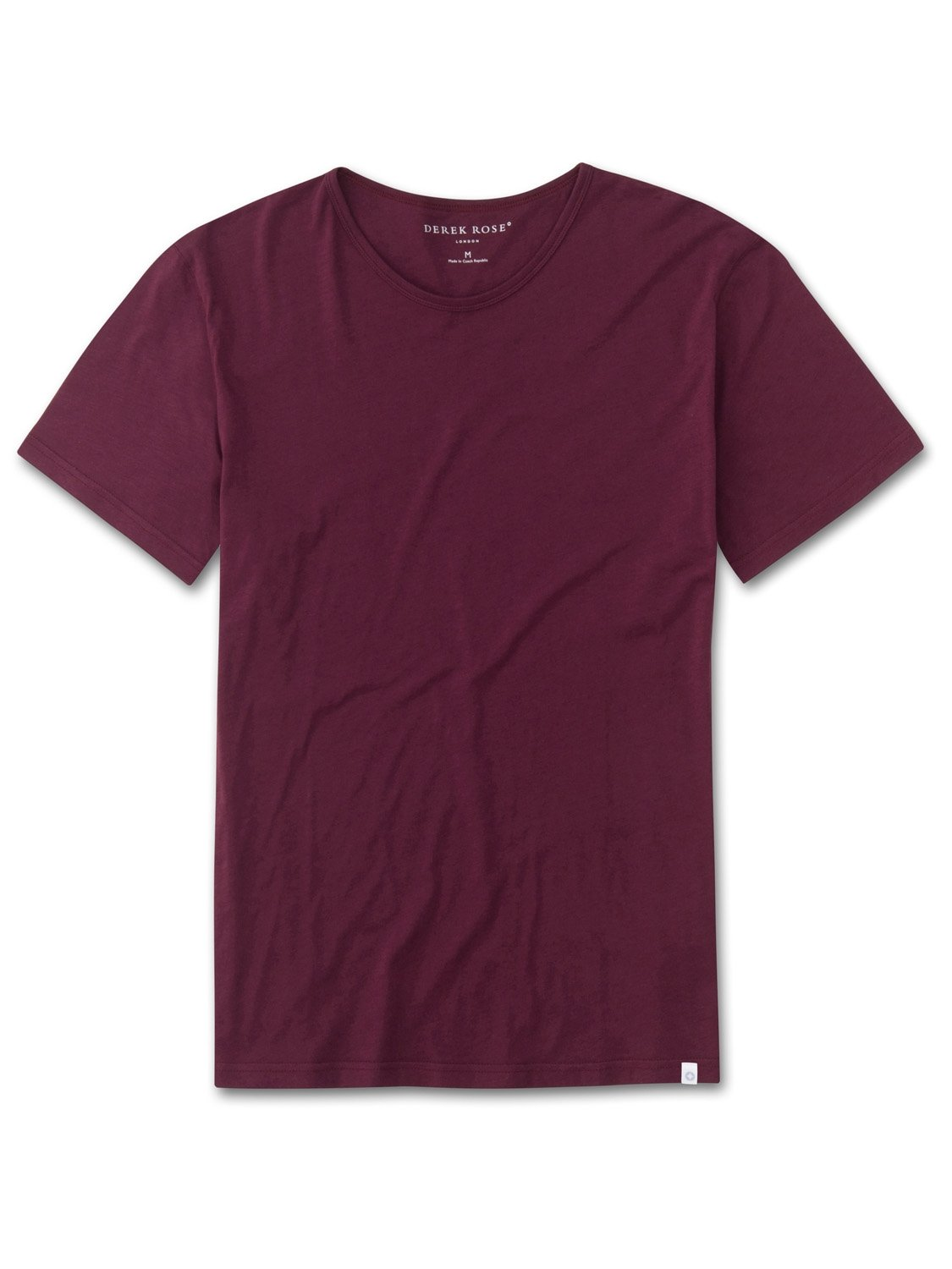 Men's Short Sleeve T-Shirt Riley 2 Pima Cotton Burgundy