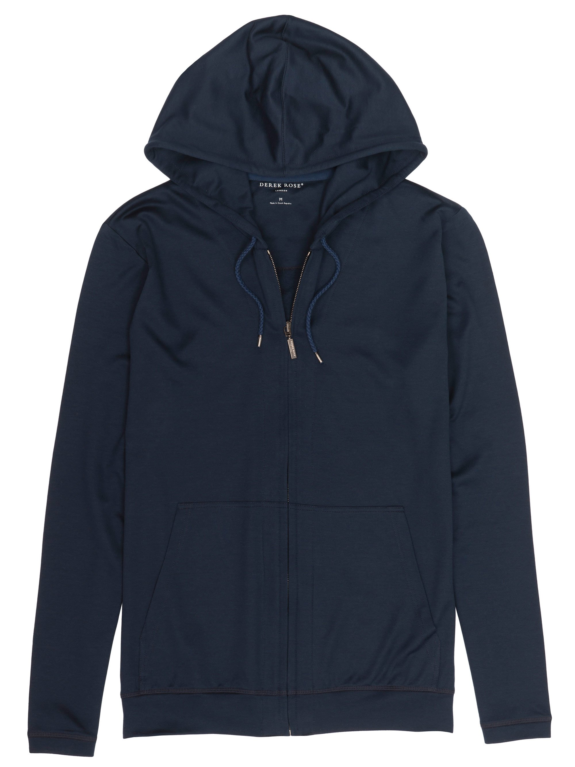 Men's Hoodie Toby Lightweight Loopback Cotton Navy