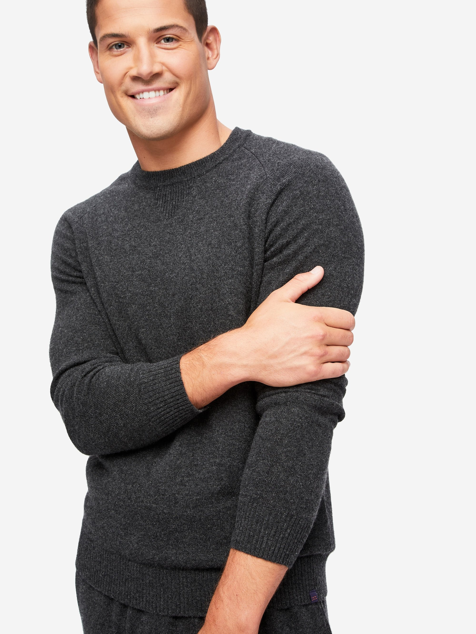 Men's Sweater Finley 2 Cashmere Charcoal