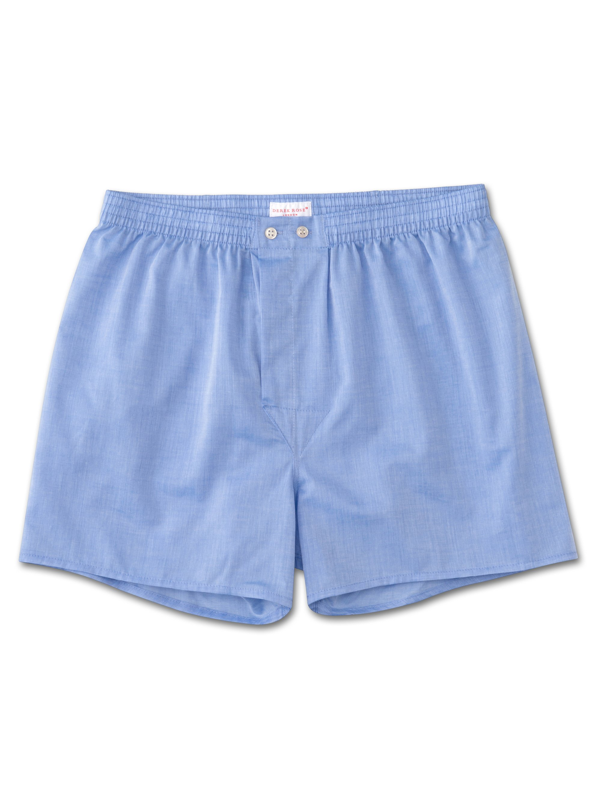 Men's Classic Fit Boxer Shorts Amalfi Cotton Batiste Blue