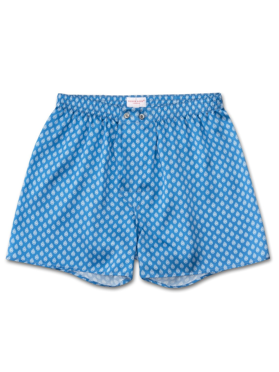 Men's Classic Fit Boxer Shorts Brindisi 20 Pure Silk Satin Blue