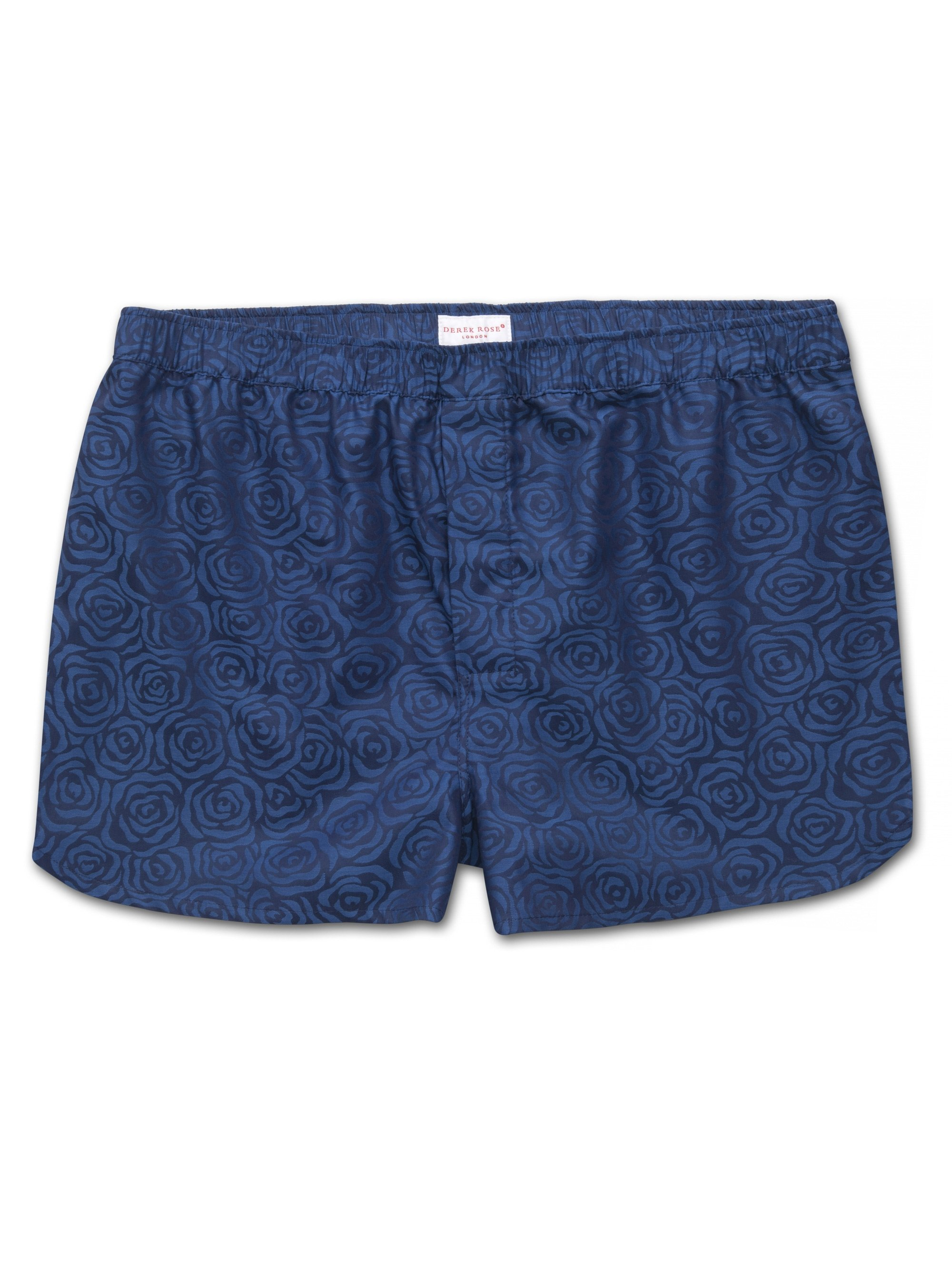 Men's Modern Fit Boxer Shorts Paris 17 Cotton Jacquard Navy