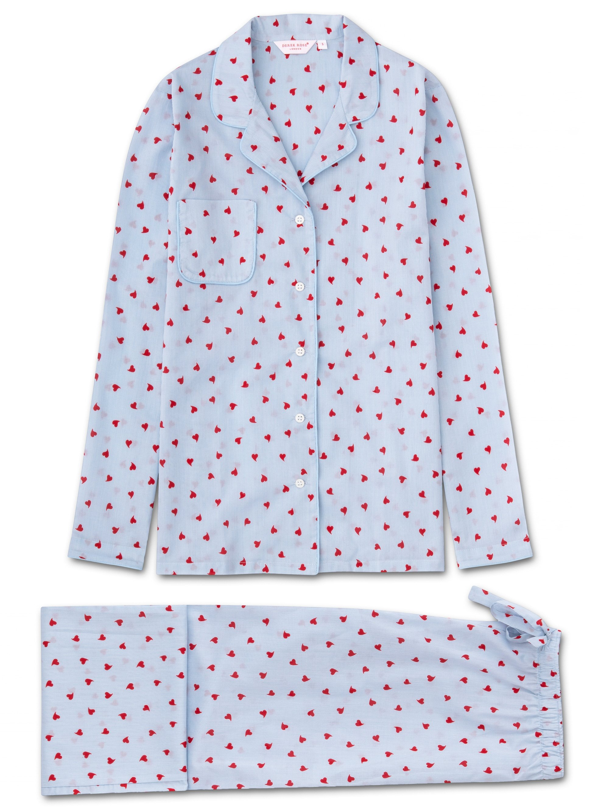 Women's Pyjamas Nelson 75 Cotton Batiste Blue