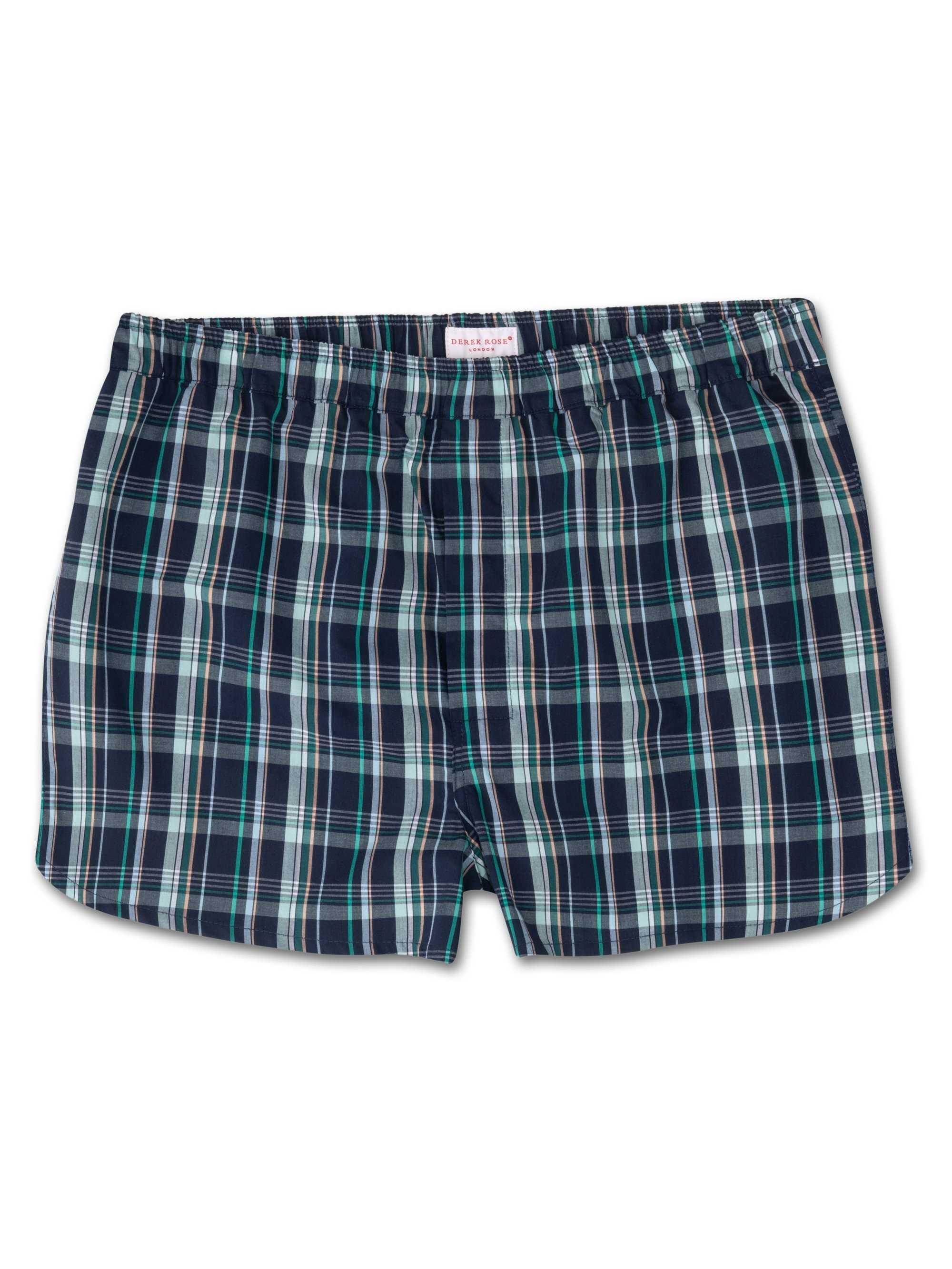 Men's Modern Fit Boxer Shorts Barker 21 Cotton Check Multi