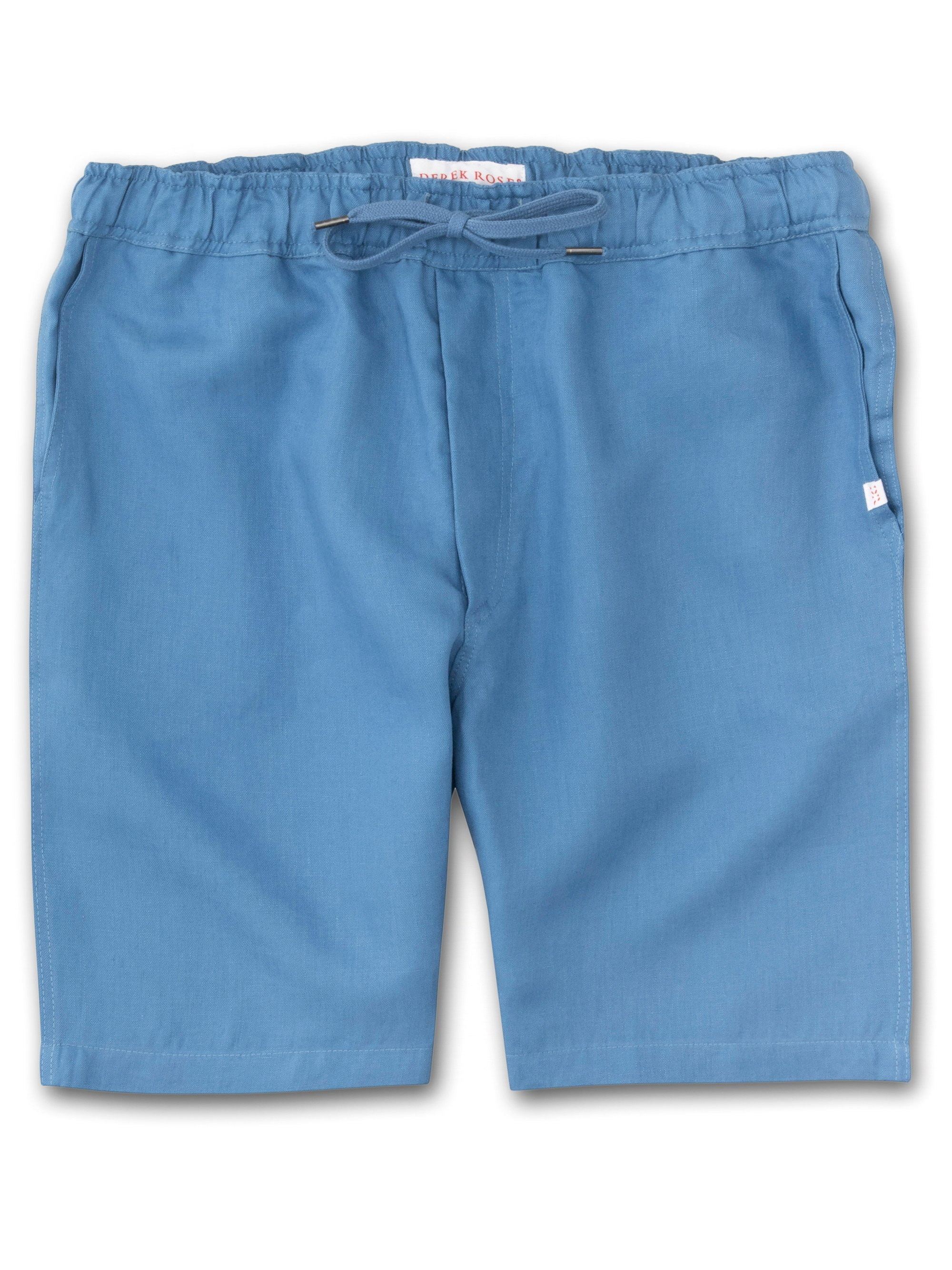 Men's Linen Shorts Sydney Linen Blue