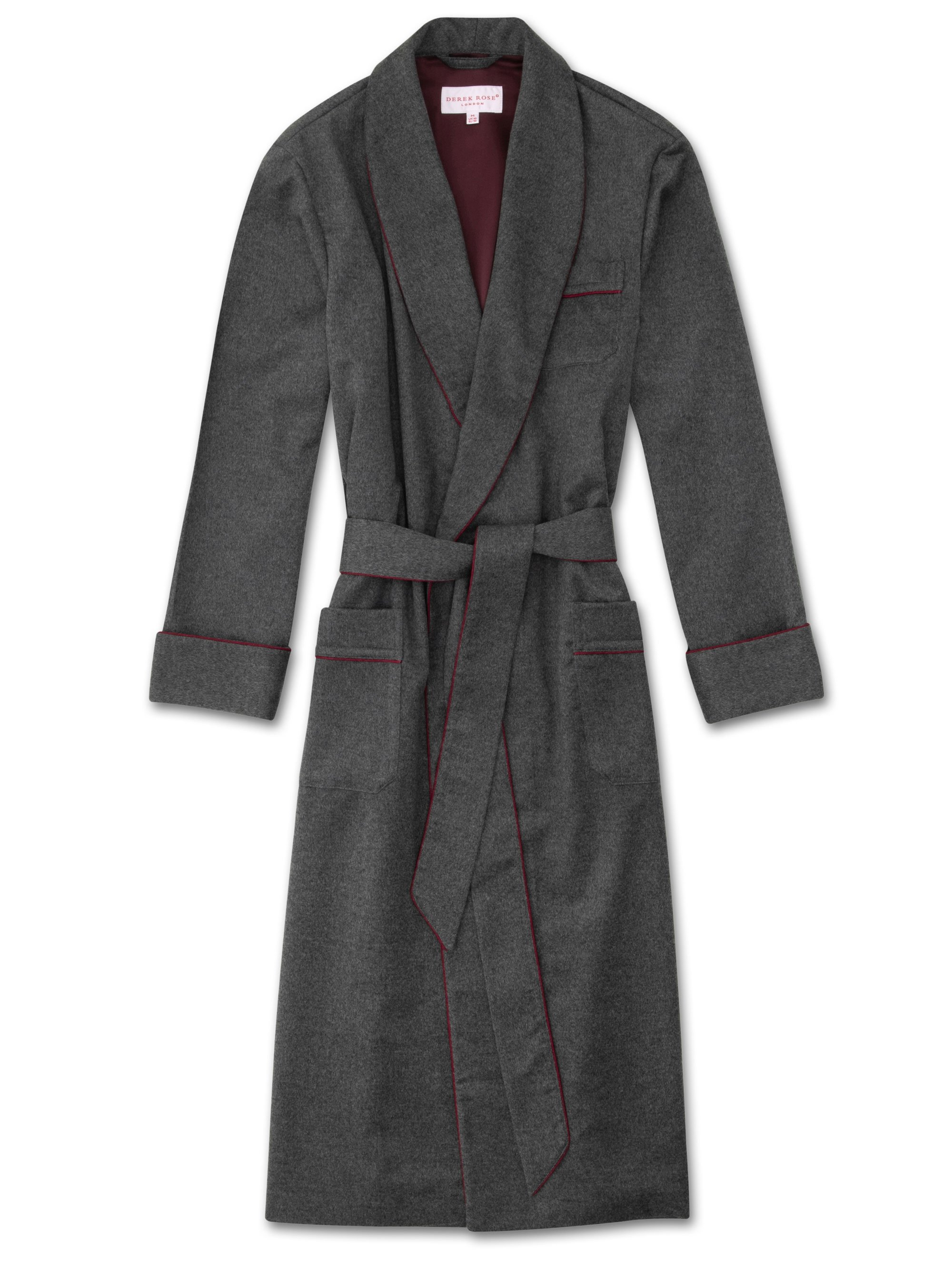 Men's Cashmere Dressing Gown Duke Pure Cashmere Charcoal