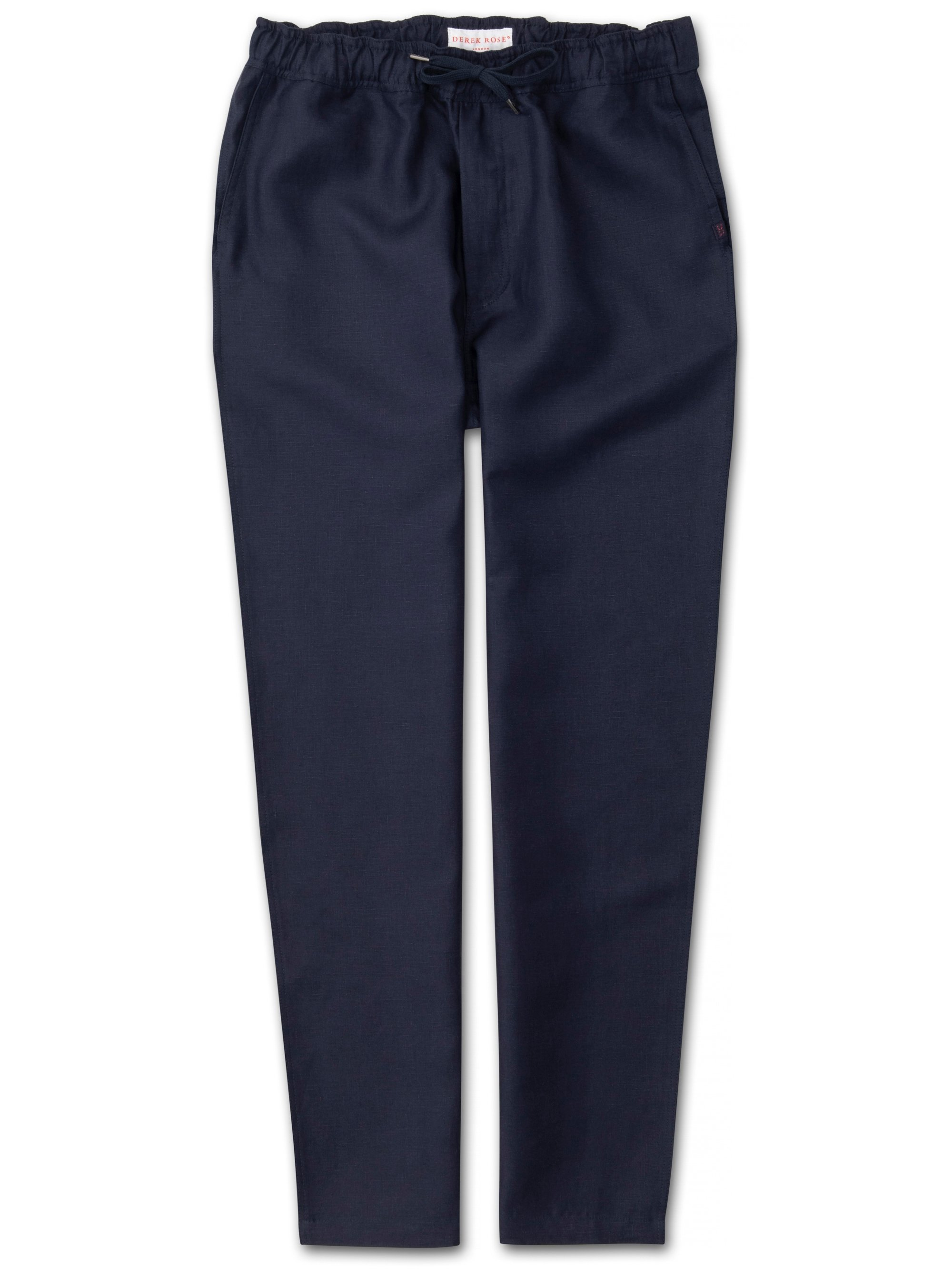 Men's Linen Trousers Sydney Linen Navy