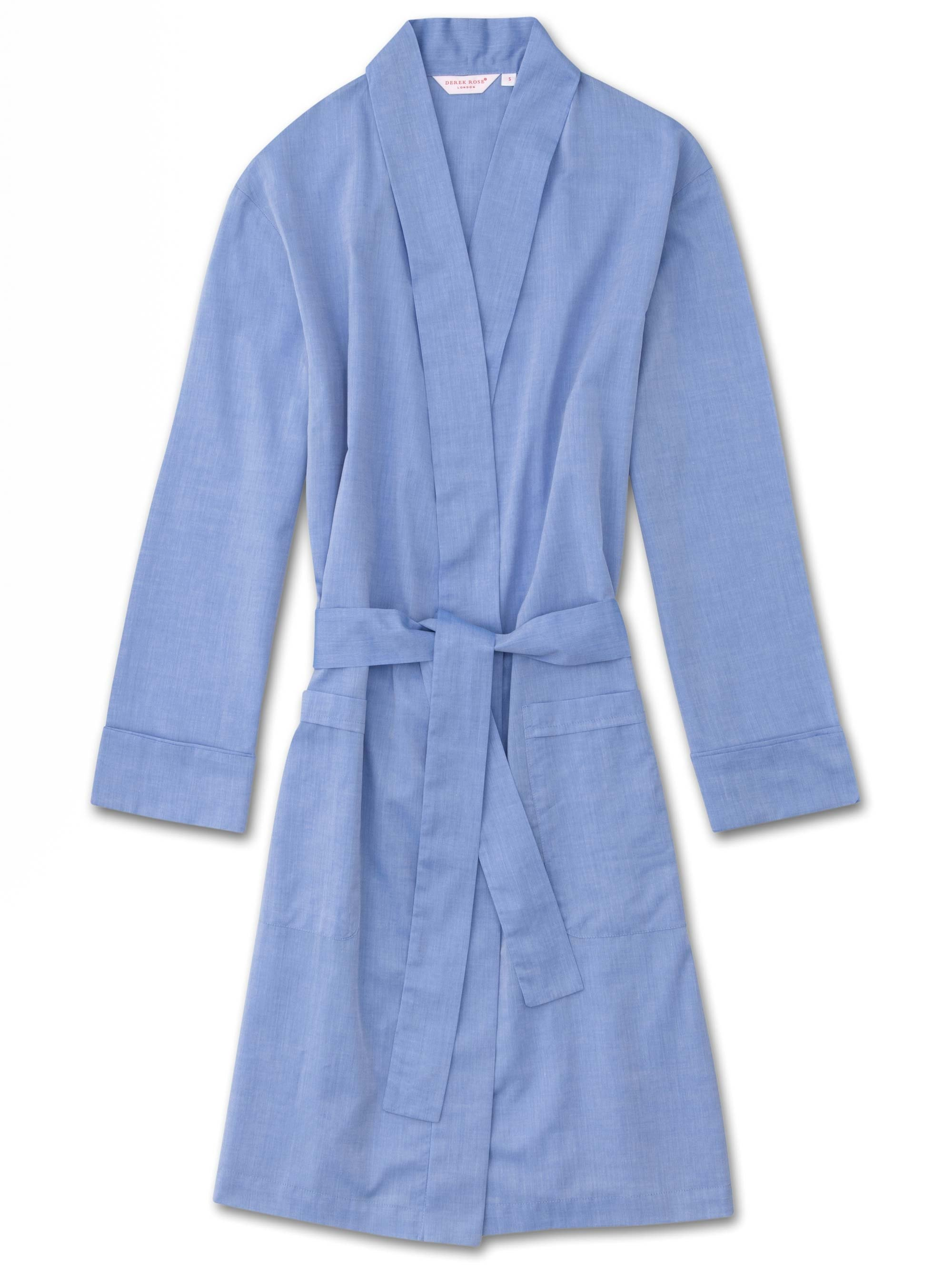 Women's Dressing Gown Amalfi Cotton Batiste Blue