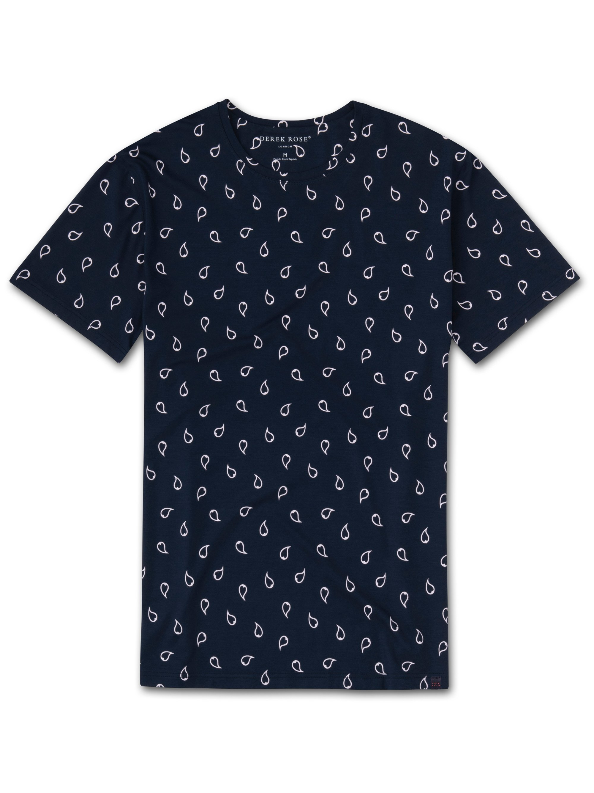 Men's Short Sleeve T-Shirt London Micro Modal Stretch Navy