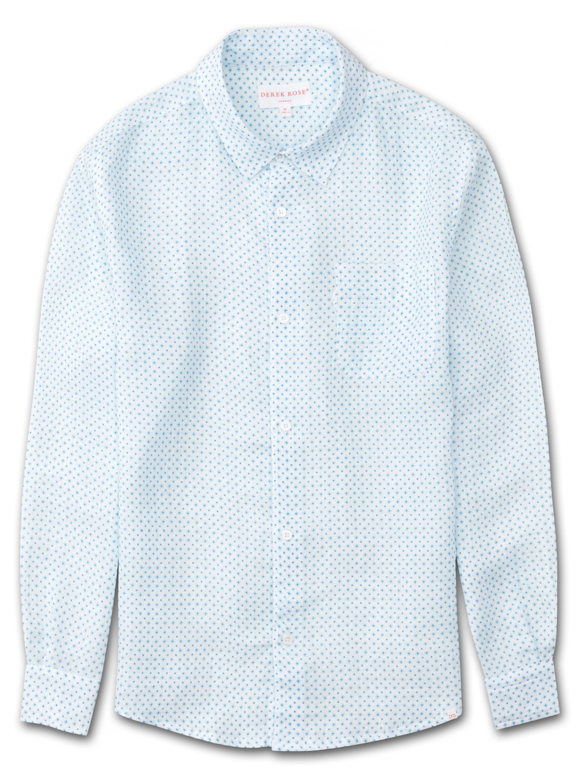 Men's Linen Shirt Milan 8 Pure Linen White