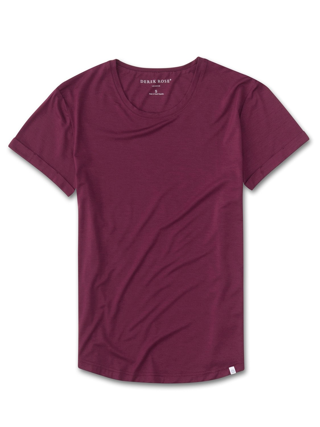 Women's Leisure T-Shirt Carla 4 Micro Modal Stretch Burgundy