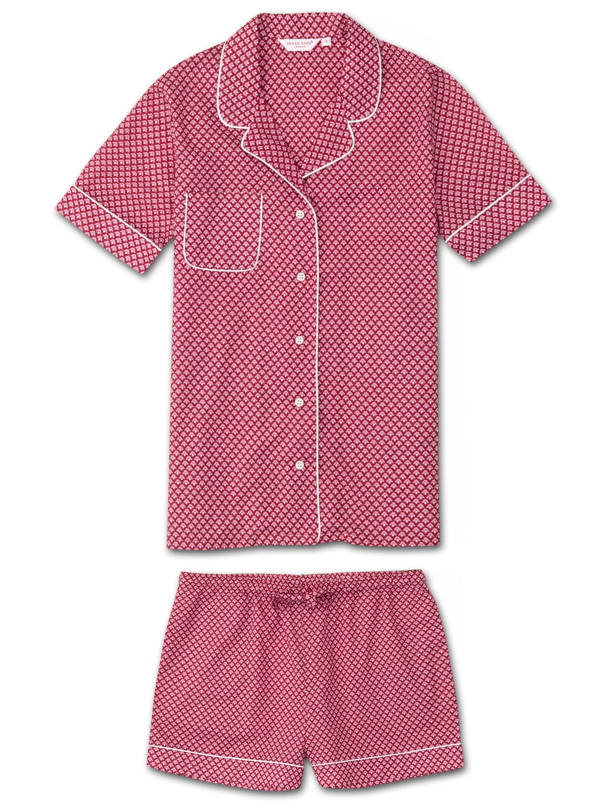 Women's Shortie Pyjamas Ledbury 31 Cotton Batiste Pink