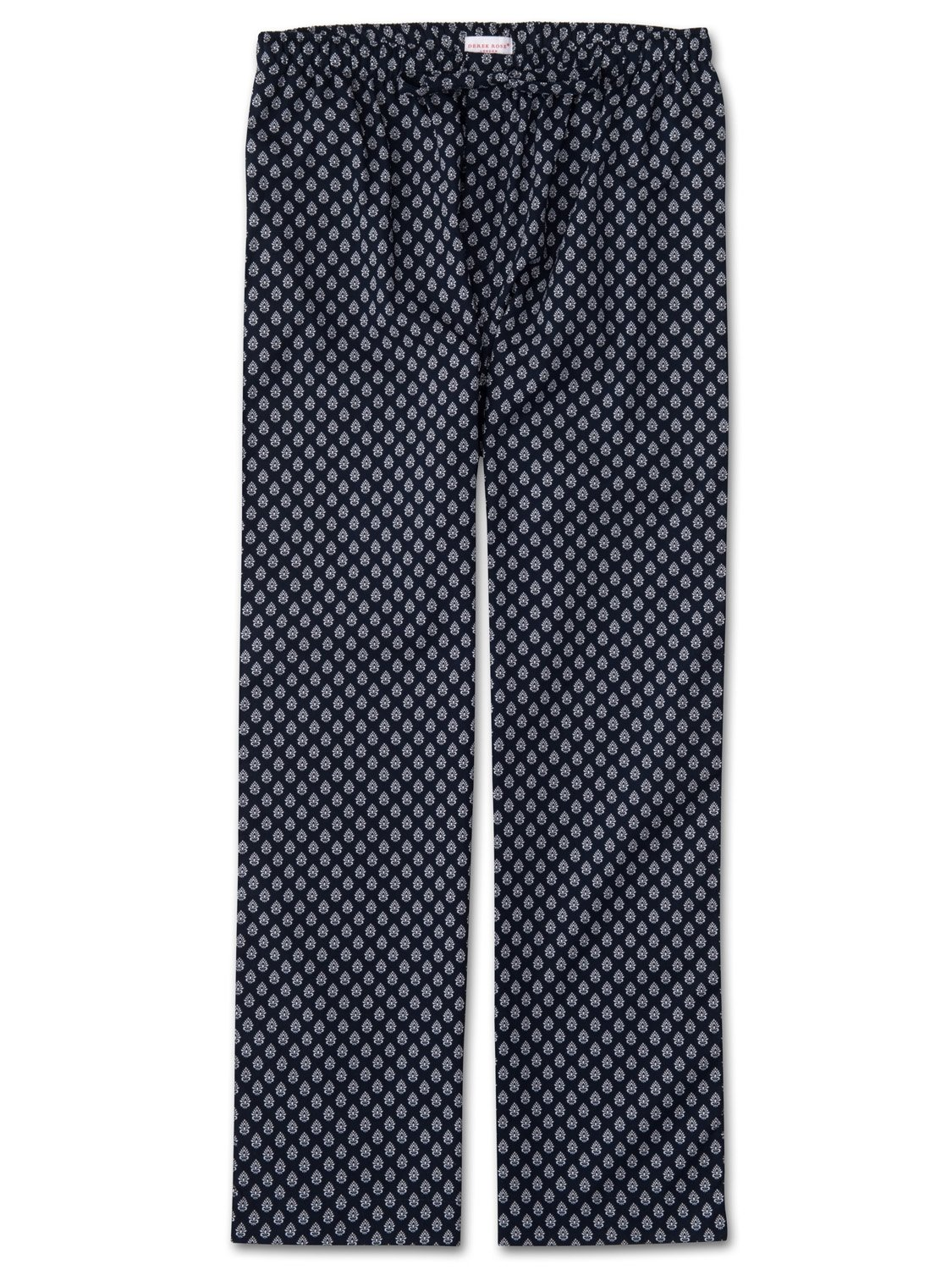 Men's Lounge Trousers Nelson 64 Cotton Batiste Navy