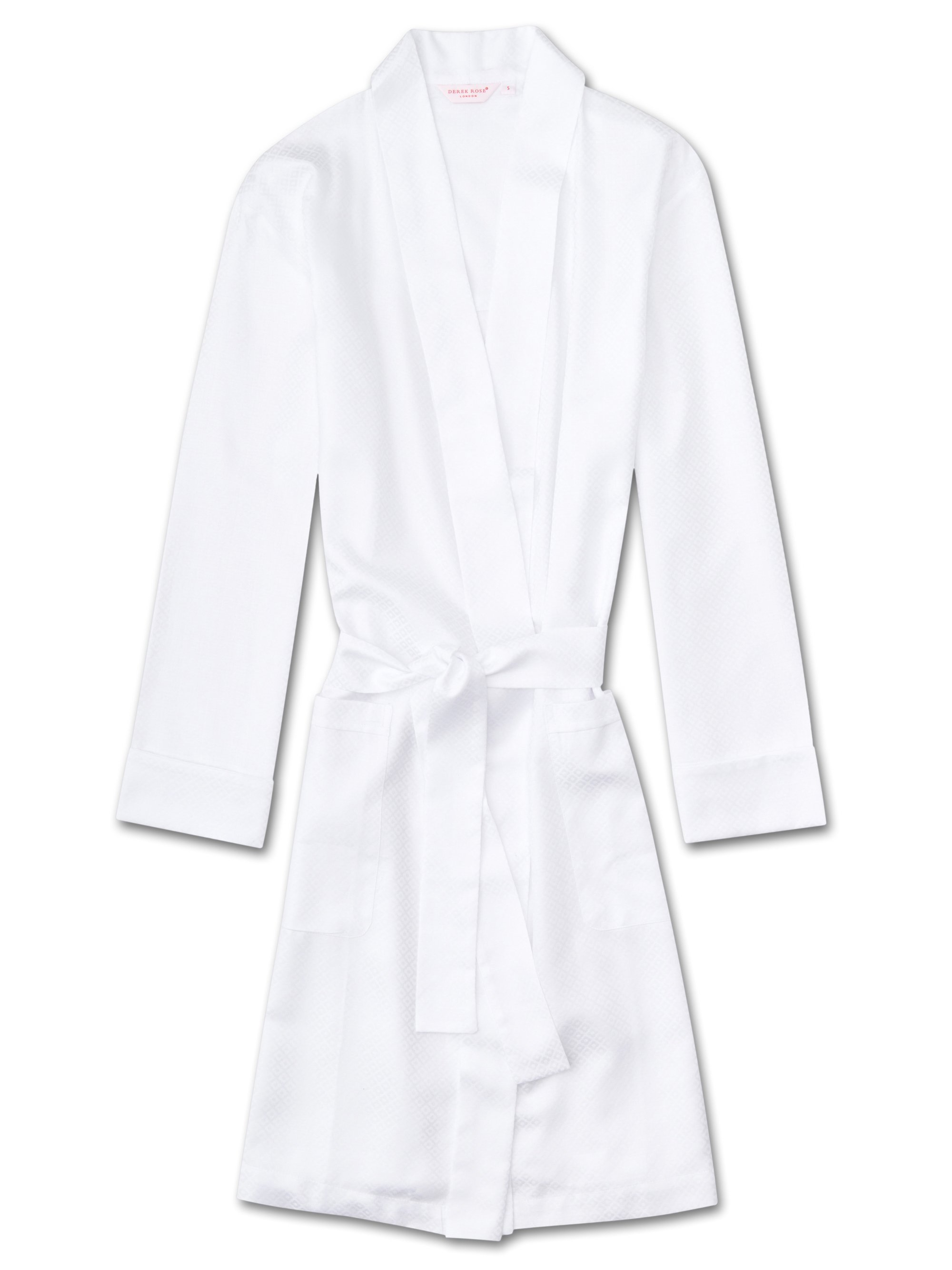 Women's Dressing Gown Kate 2 Cotton Jacquard White