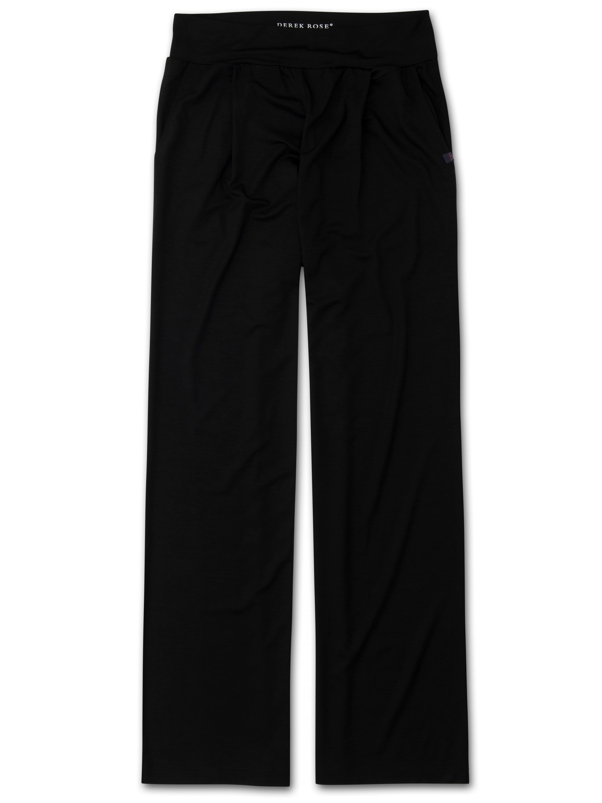 Women's Jersey Trousers Basel Micro Modal Stretch Black