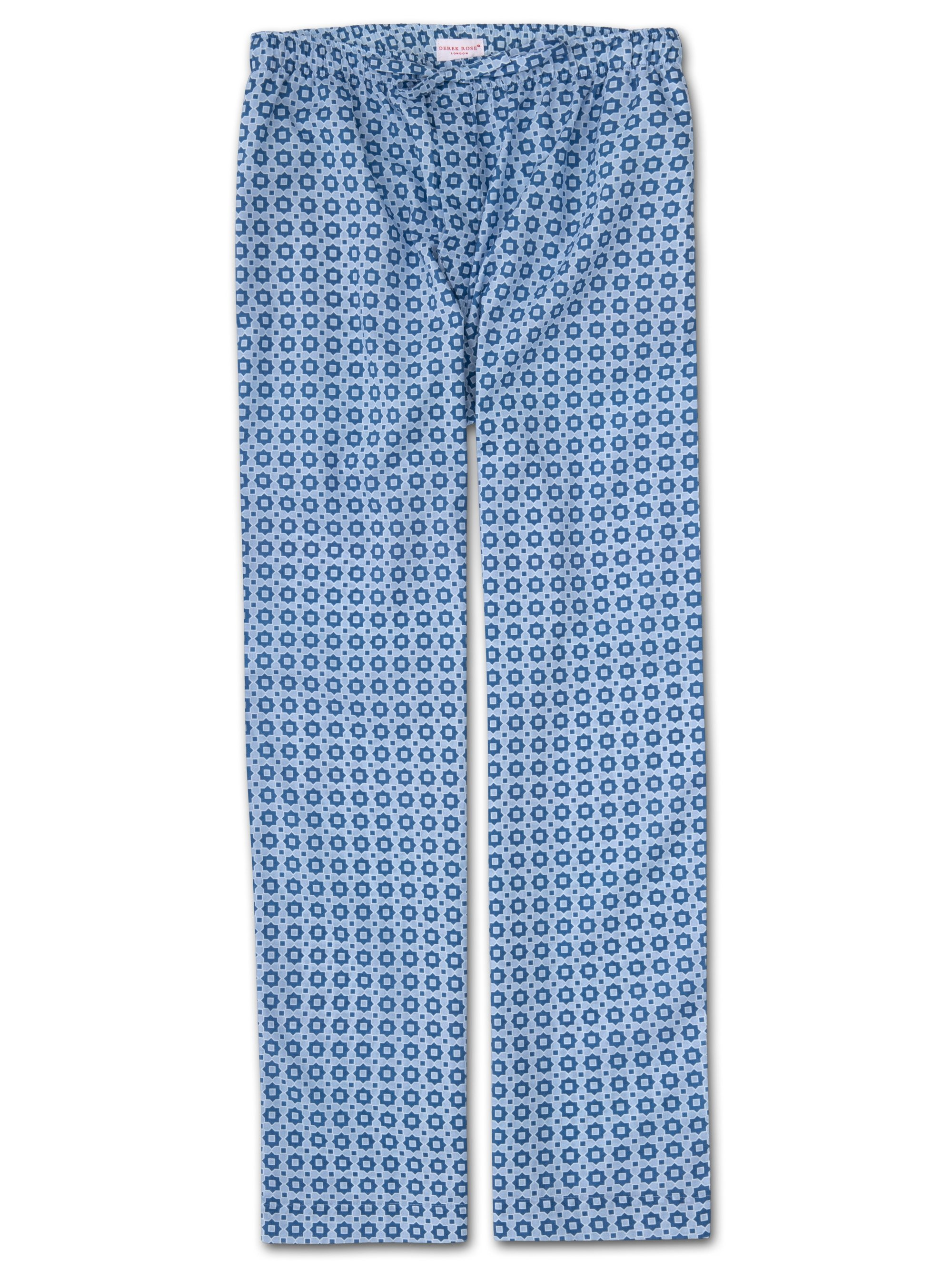 Men's Lounge Trousers Ledbury 34 Cotton Batiste Blue