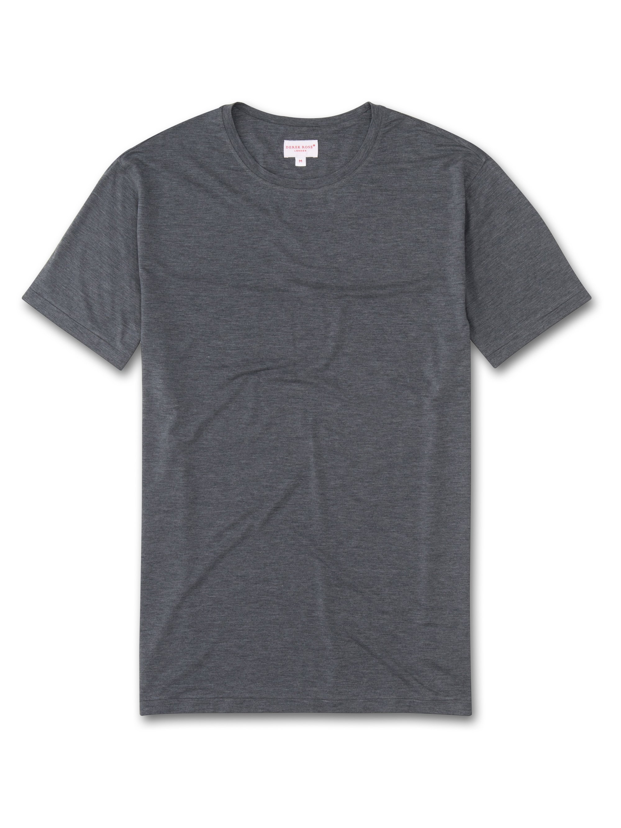 Men's Short Sleeve T-Shirt Ethan Micro Modal Stretch Charcoal