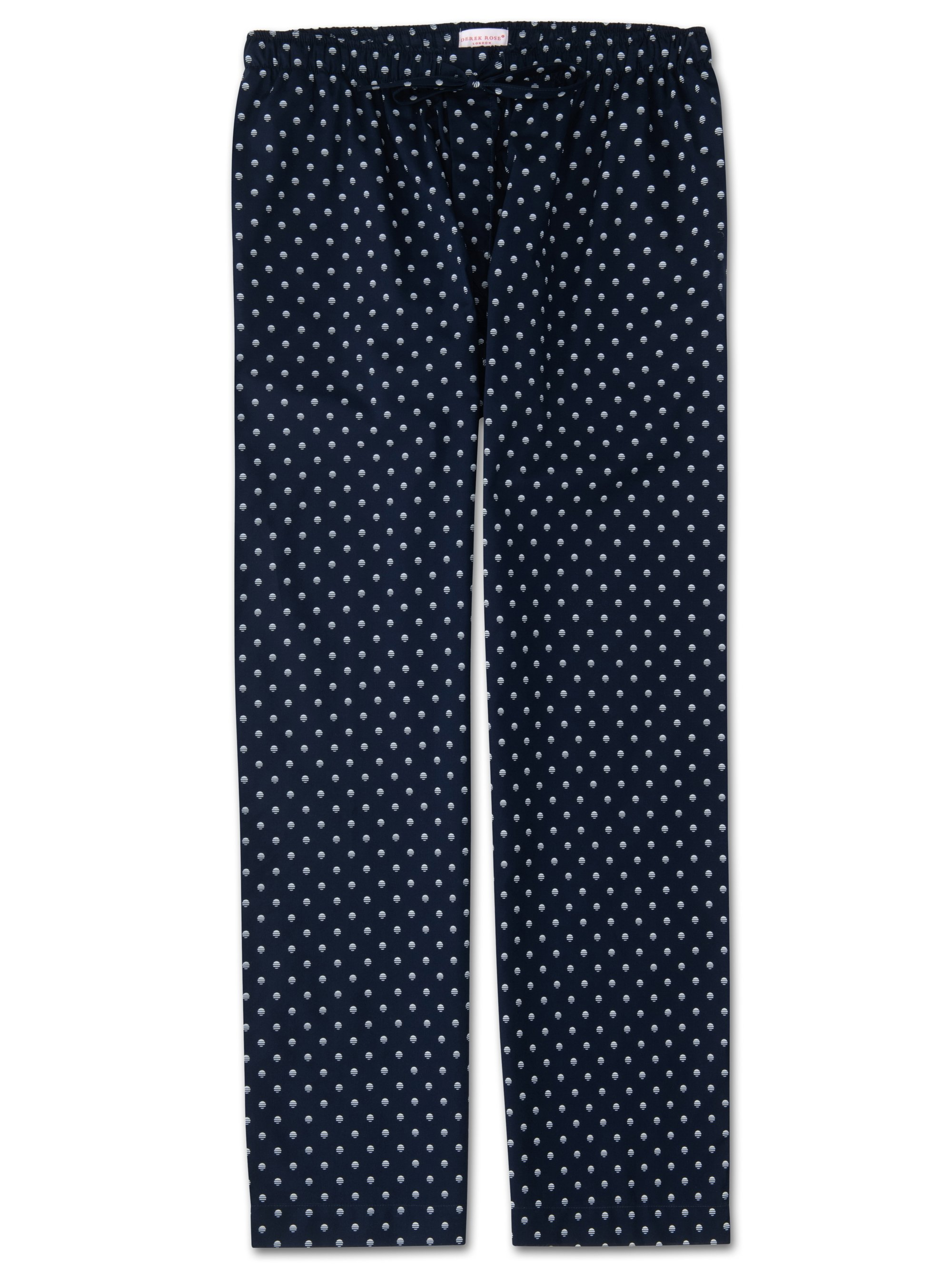 Men's Lounge Trousers Nelson 68 Cotton Batiste Navy