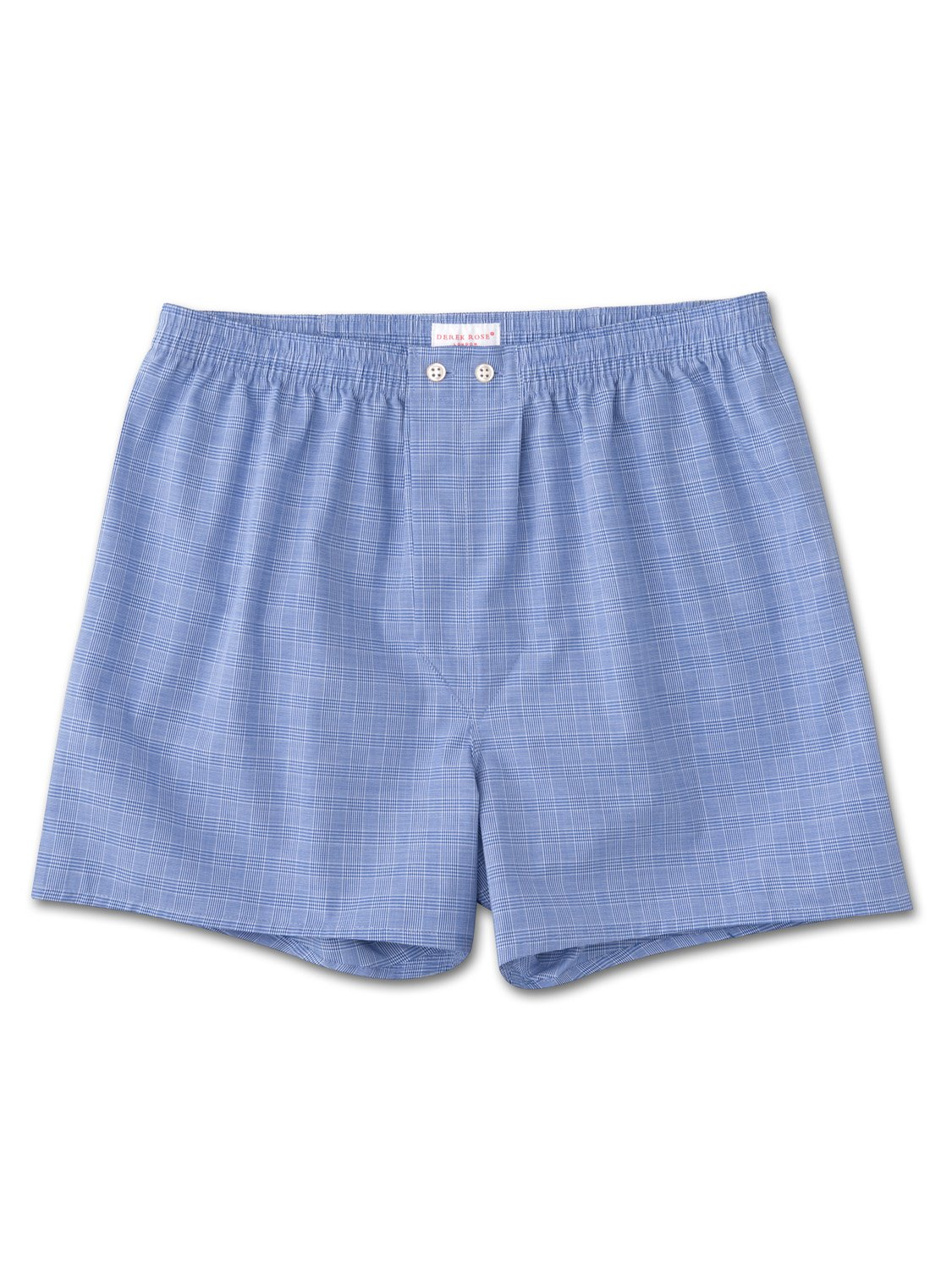 Men's Classic Fit Boxer Shorts Felsted 3 Pure Cotton Blue