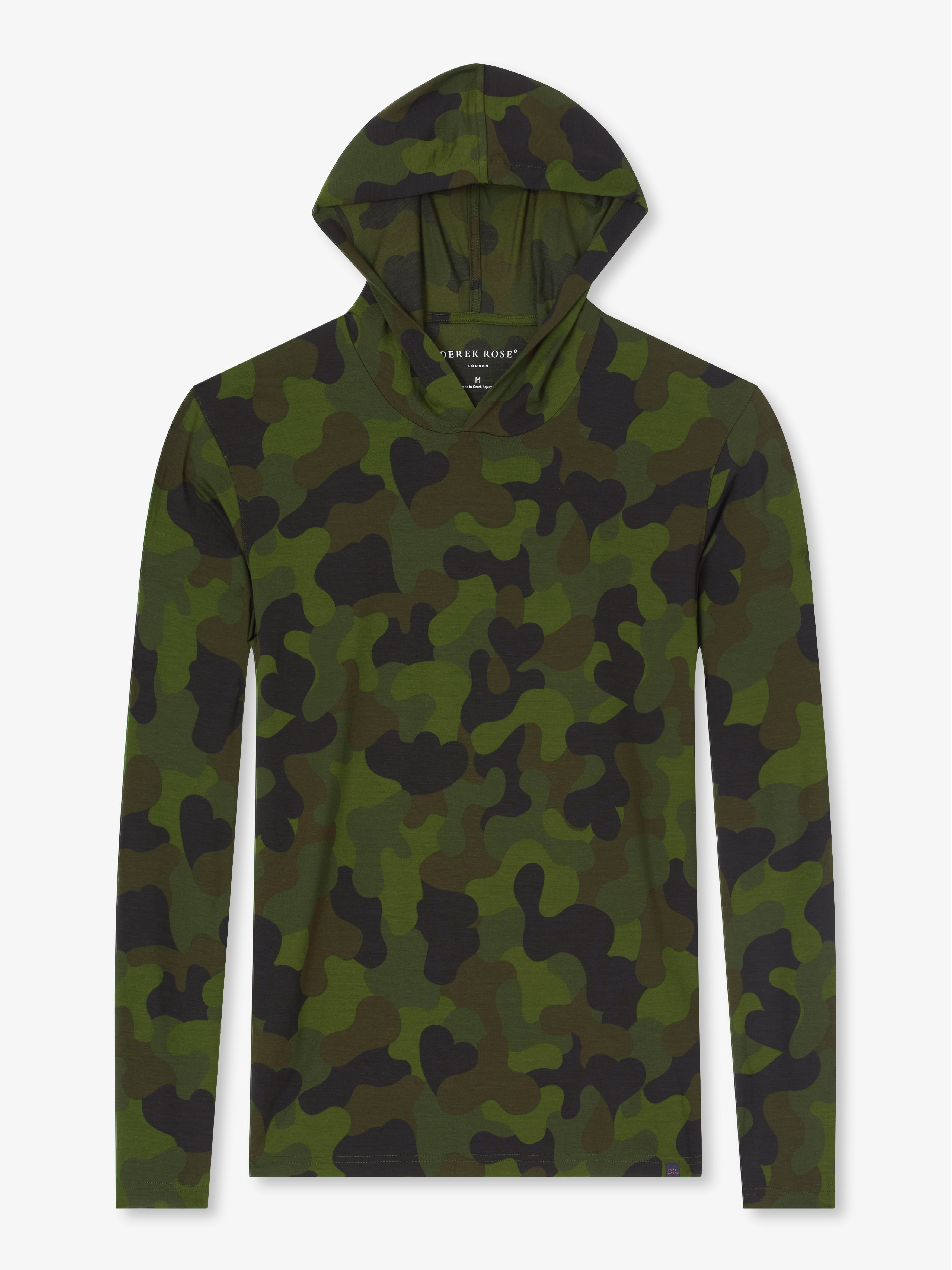 Men's Jersey Pullover Hoodie London 2 Micro Modal Stretch Green